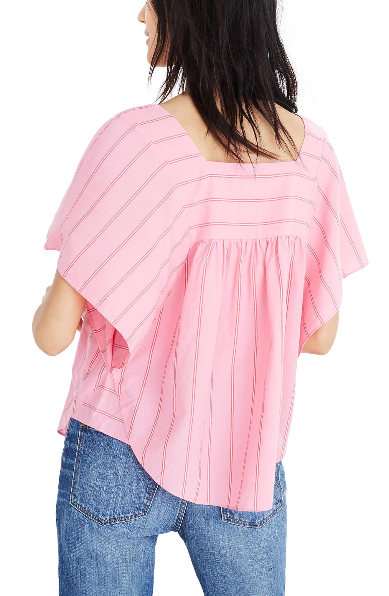 Stripe Butterfly Top,                             Alternate thumbnail 2, color,                             Peony Pink