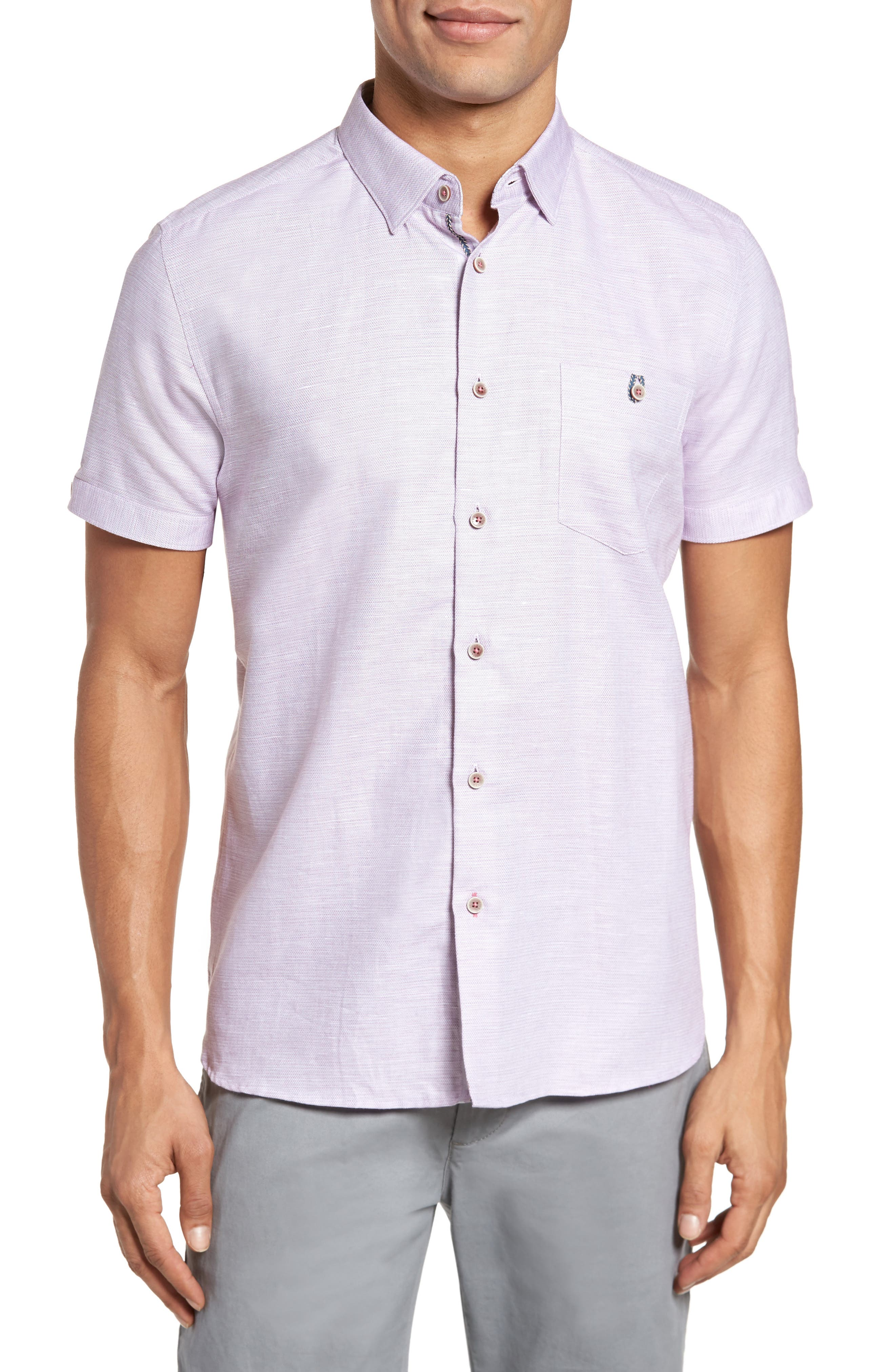 Ted Baker London Peezett Short Sleeve Sport Shirt