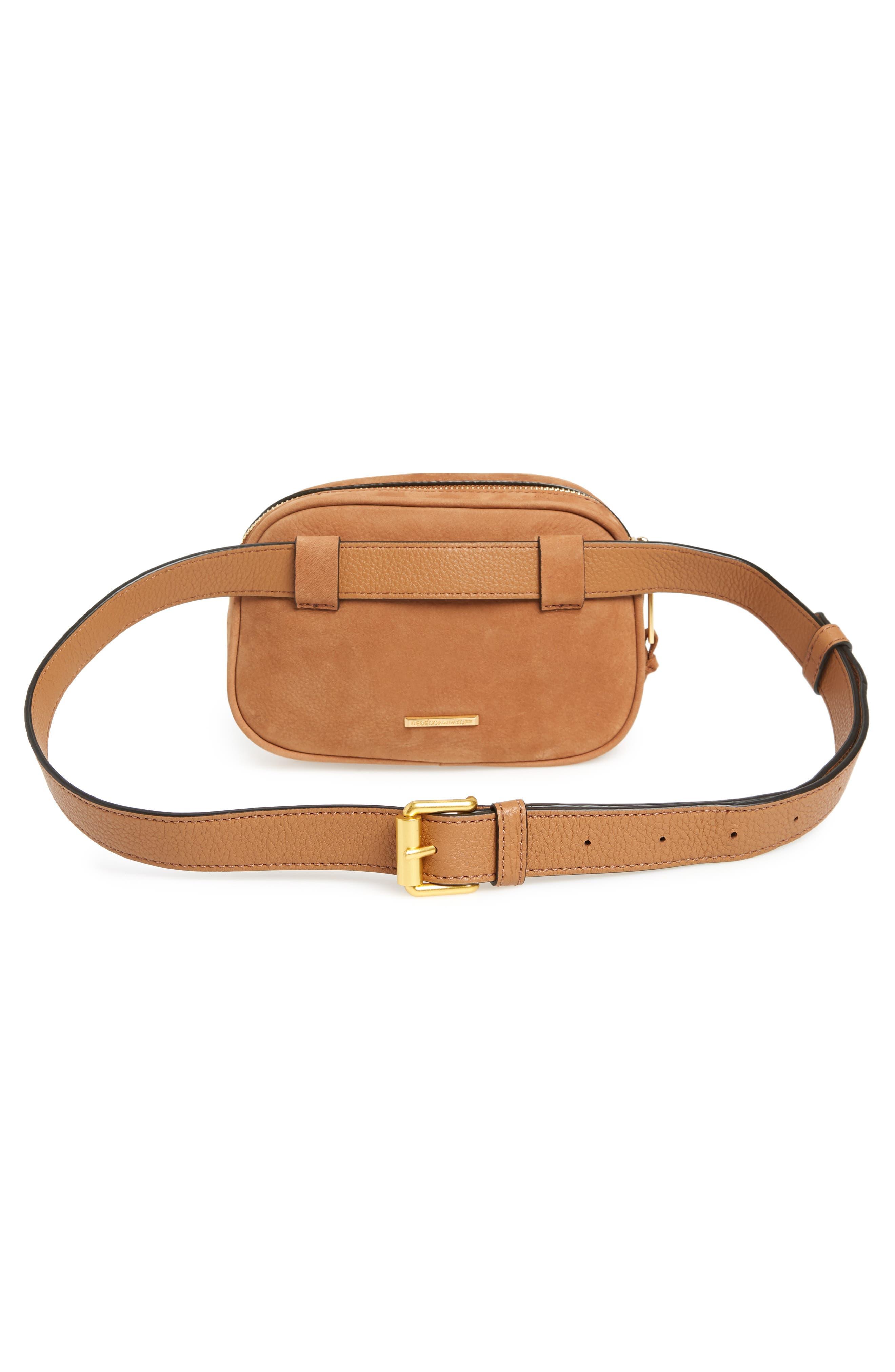 Blythe Leather Belt Bag,                             Alternate thumbnail 5, color,                             Almond