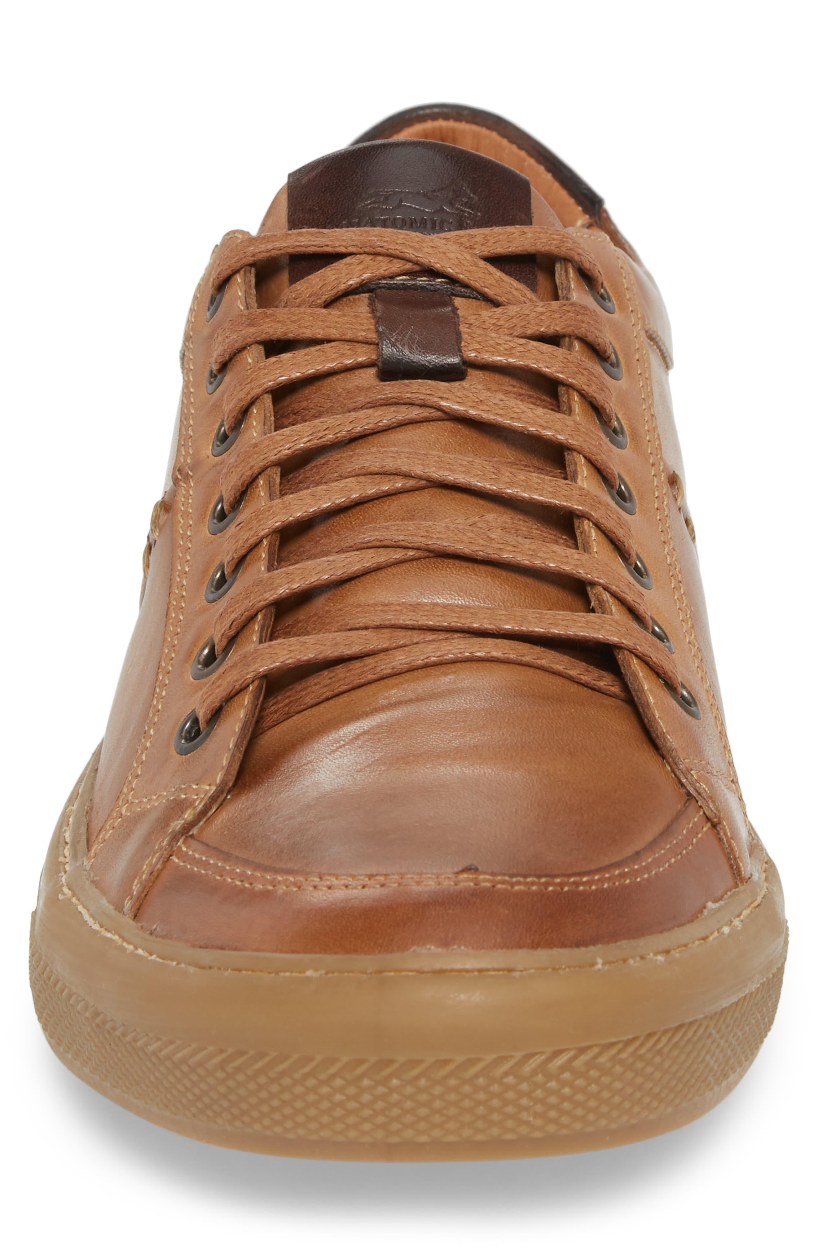 Bilac Low Top Sneaker,                             Alternate thumbnail 4, color,                             Touch Bronze/ Castanho Leather