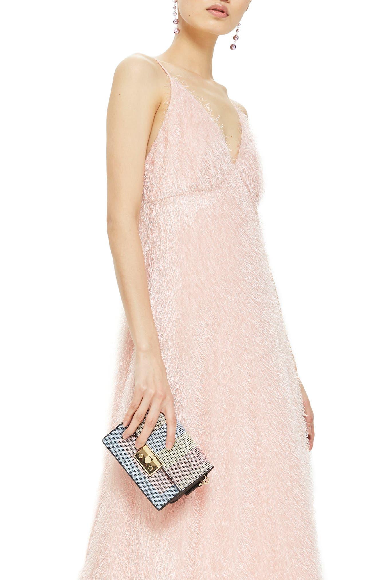 Rosie Diamante Rainbow Crossbody Bag,                             Alternate thumbnail 7, color,                             Black Multi