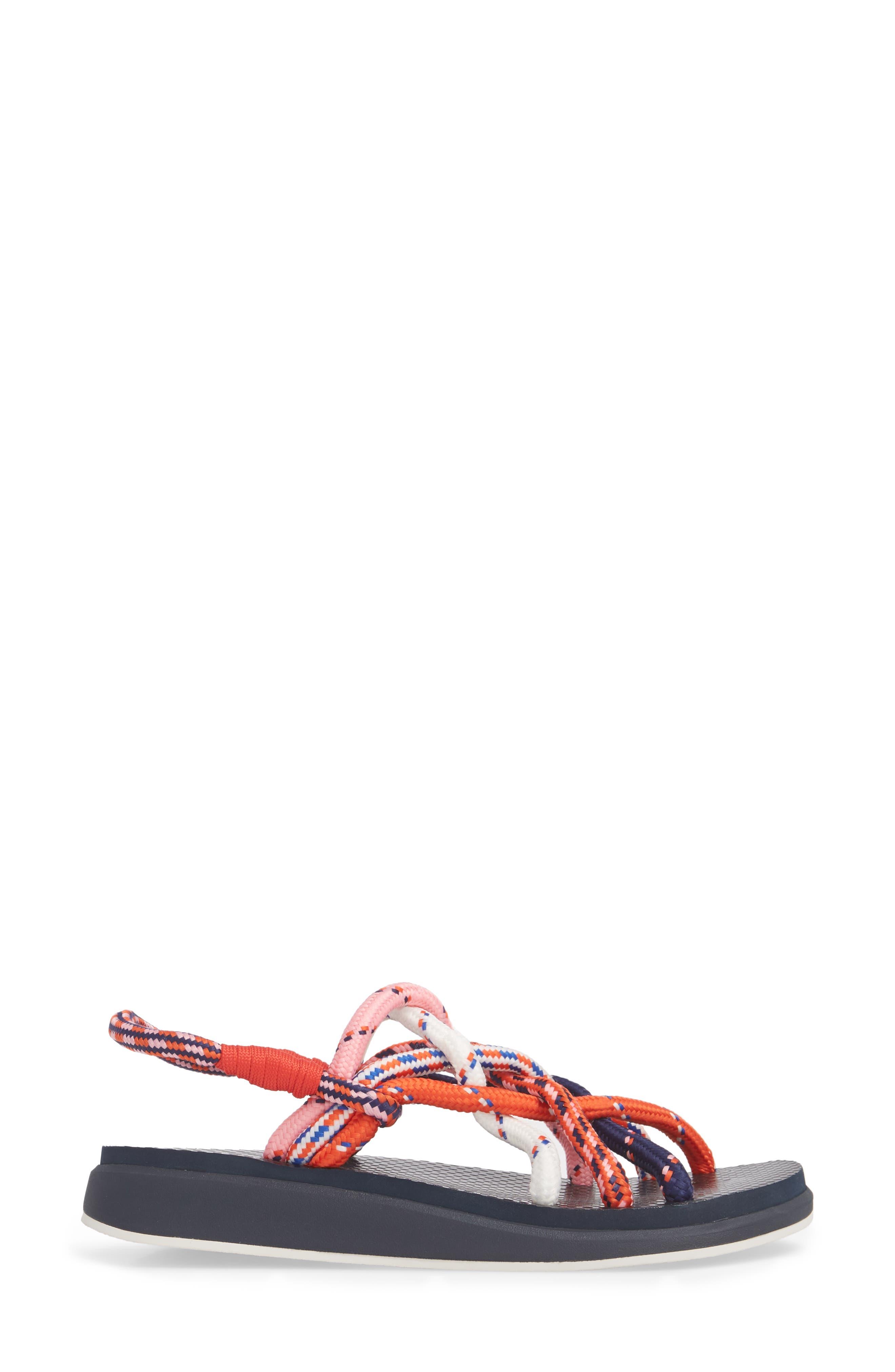 Rope Sandal,                             Alternate thumbnail 3, color,                             Red Multi