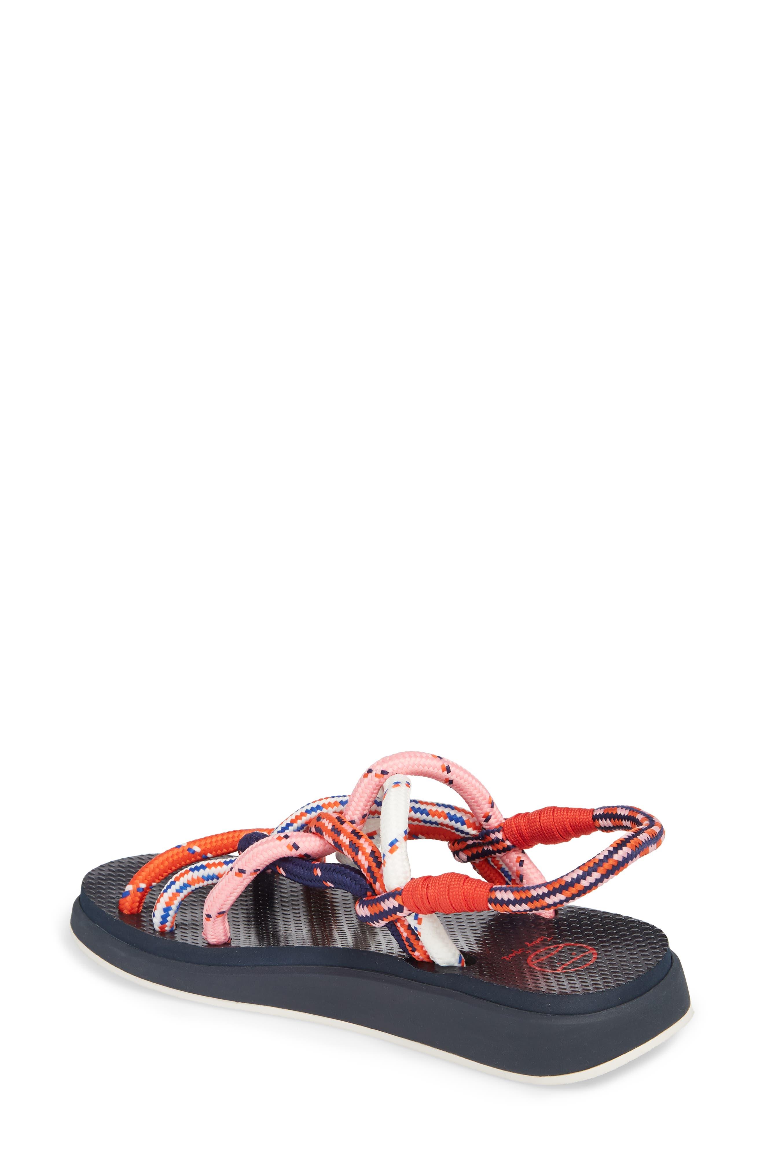 Rope Sandal,                             Alternate thumbnail 2, color,                             Red Multi
