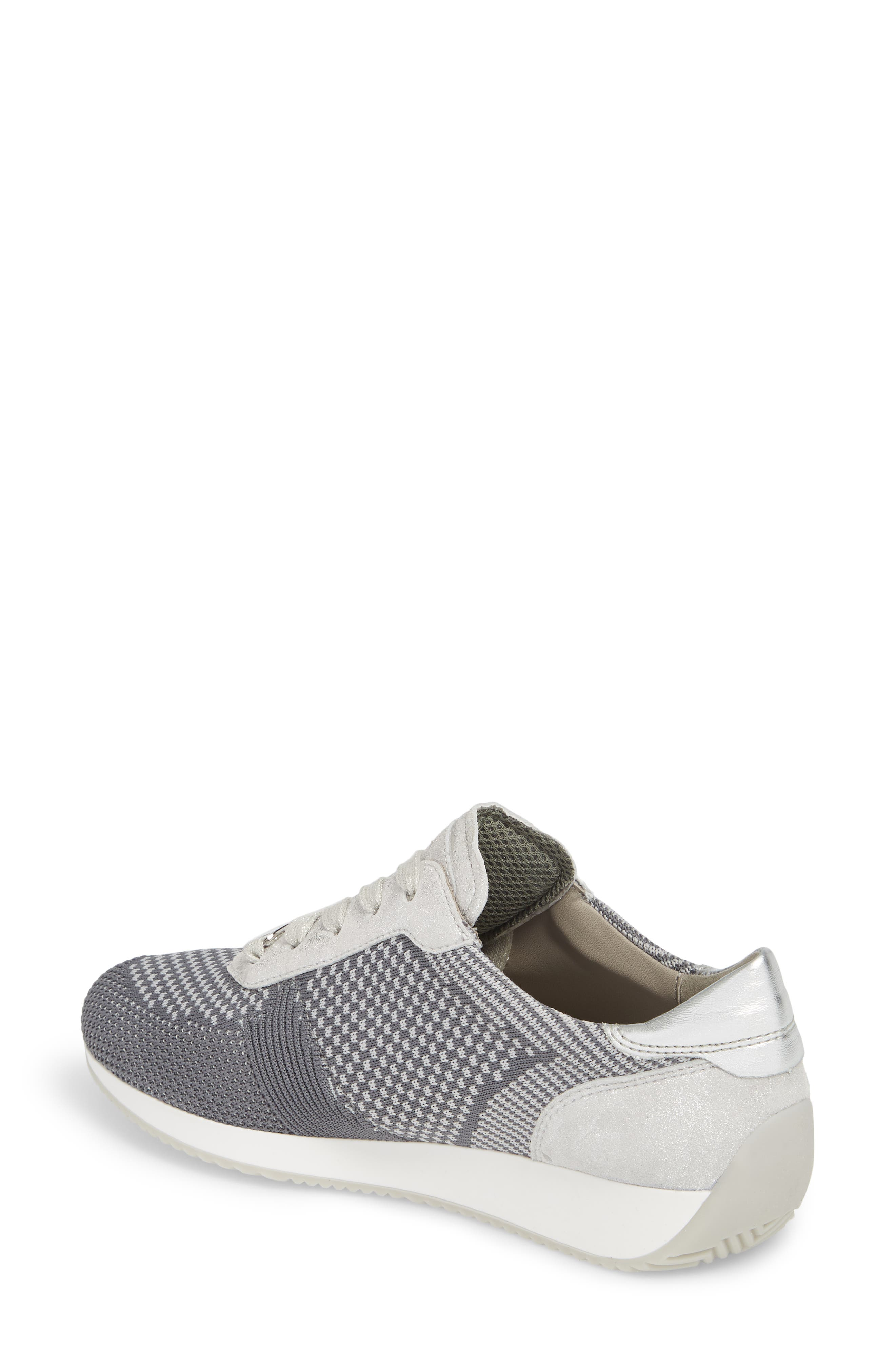 Lilly Sneaker,                             Alternate thumbnail 2, color,                             Grey Fabric