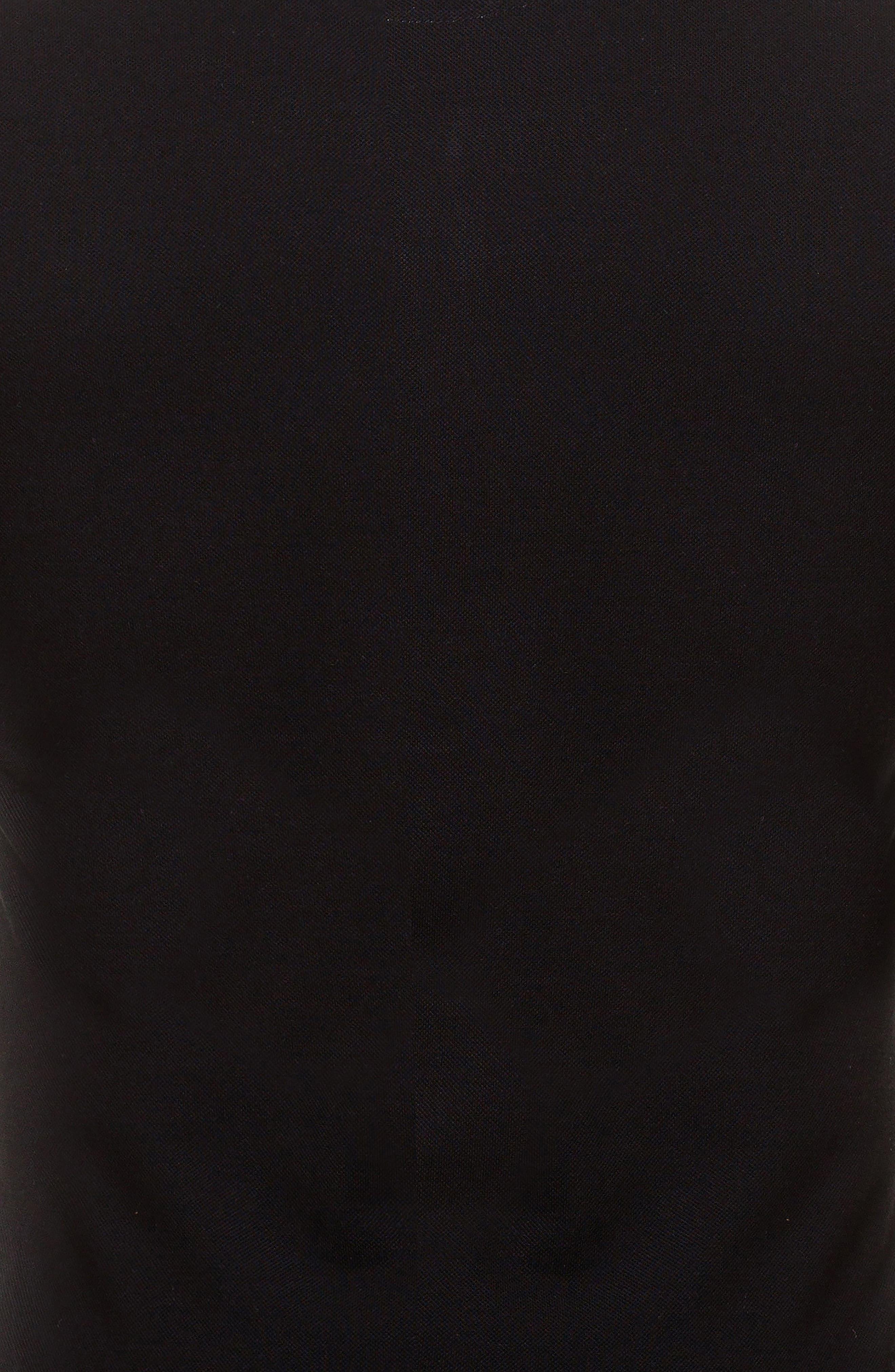 Woven Trim Polo,                             Alternate thumbnail 3, color,                             Black