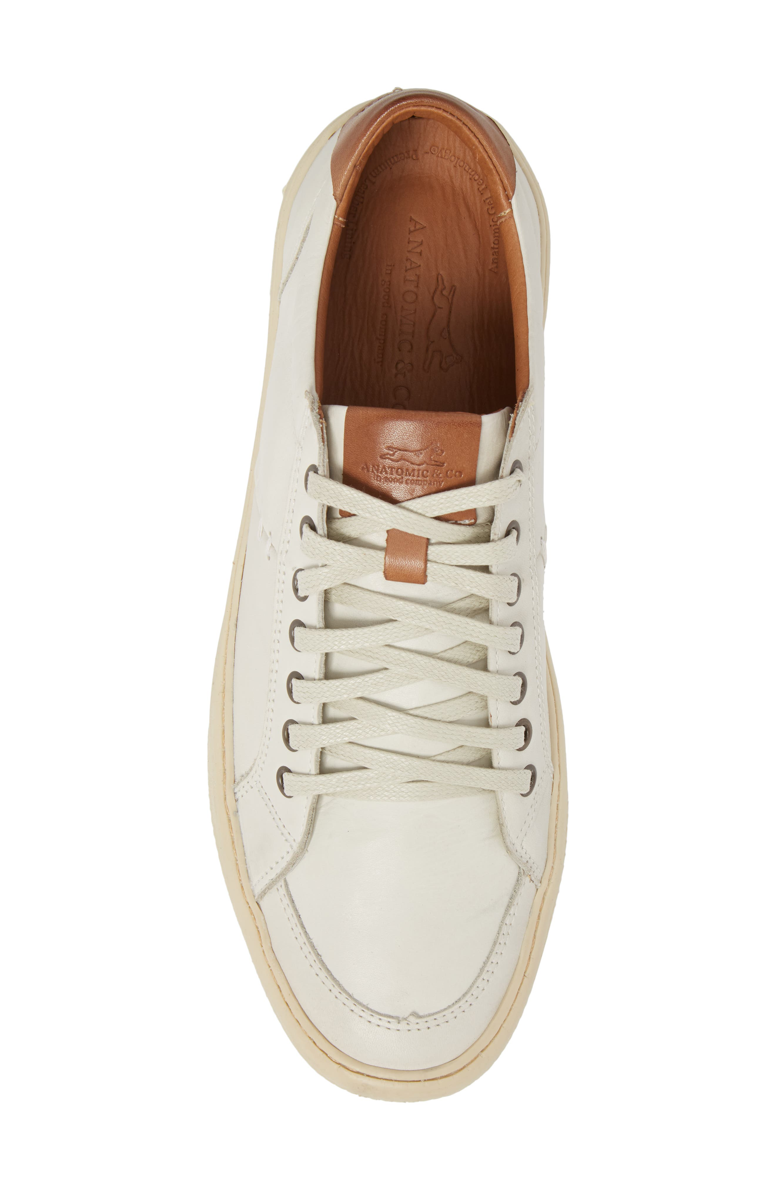 Bilac Low Top Sneaker,                             Alternate thumbnail 5, color,                             Touch Ice/ Bronze Leather