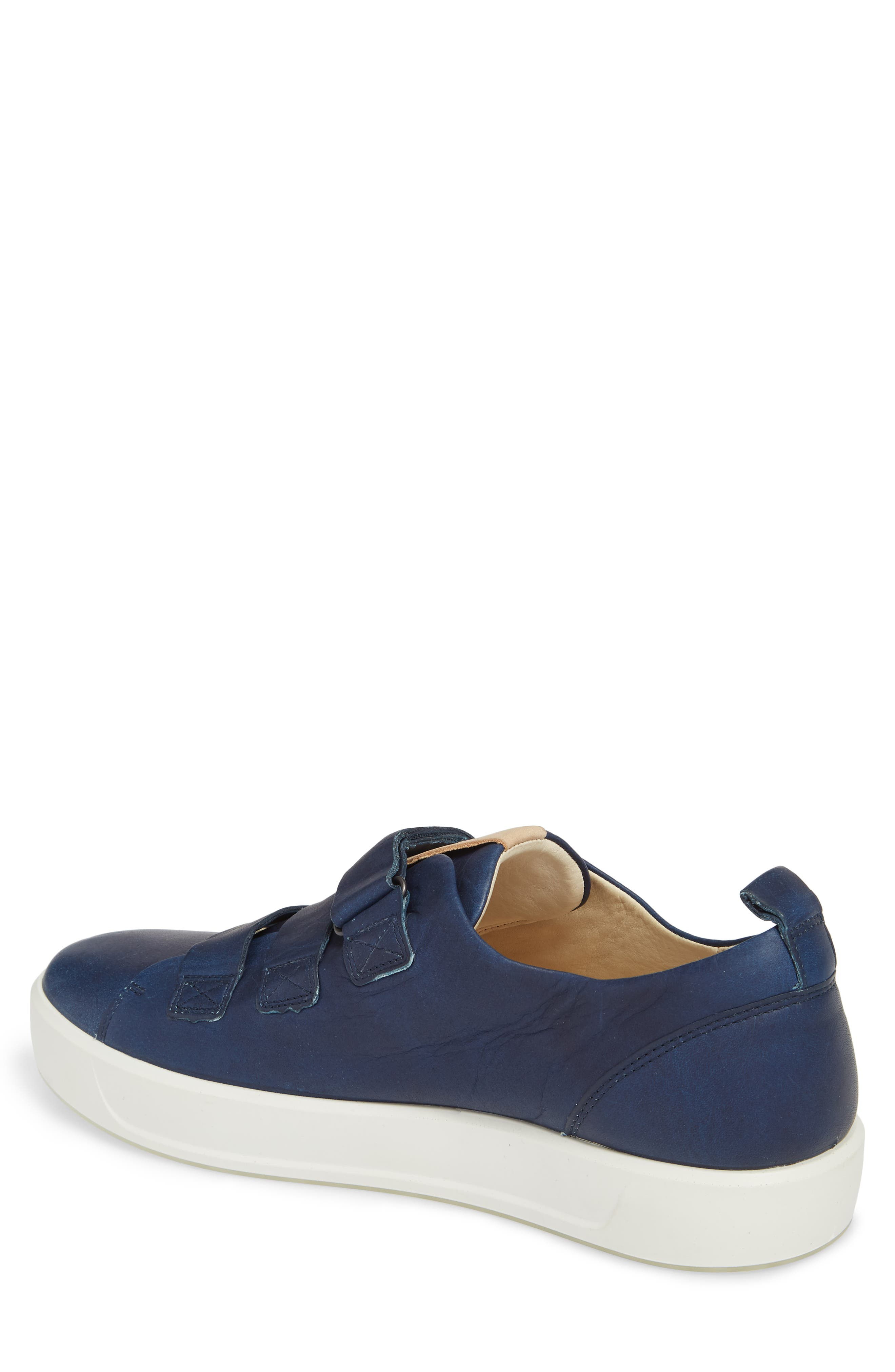 Soft 8 Strap Sneaker,                             Alternate thumbnail 2, color,                             Indigo 7 Leather