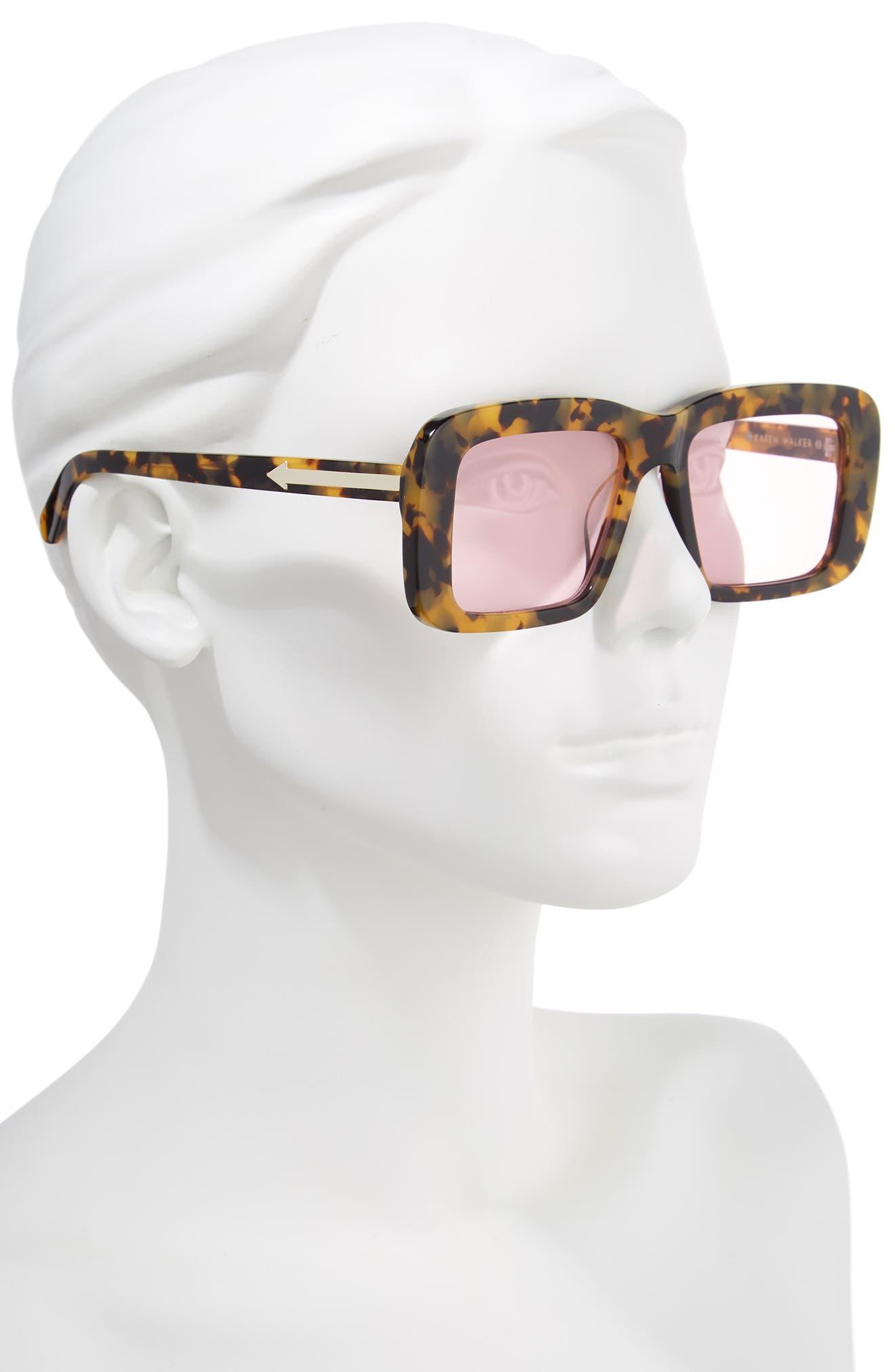 Admiral Boom 57mm Square Sunglasses,                             Alternate thumbnail 2, color,                             Crazy Tortoise