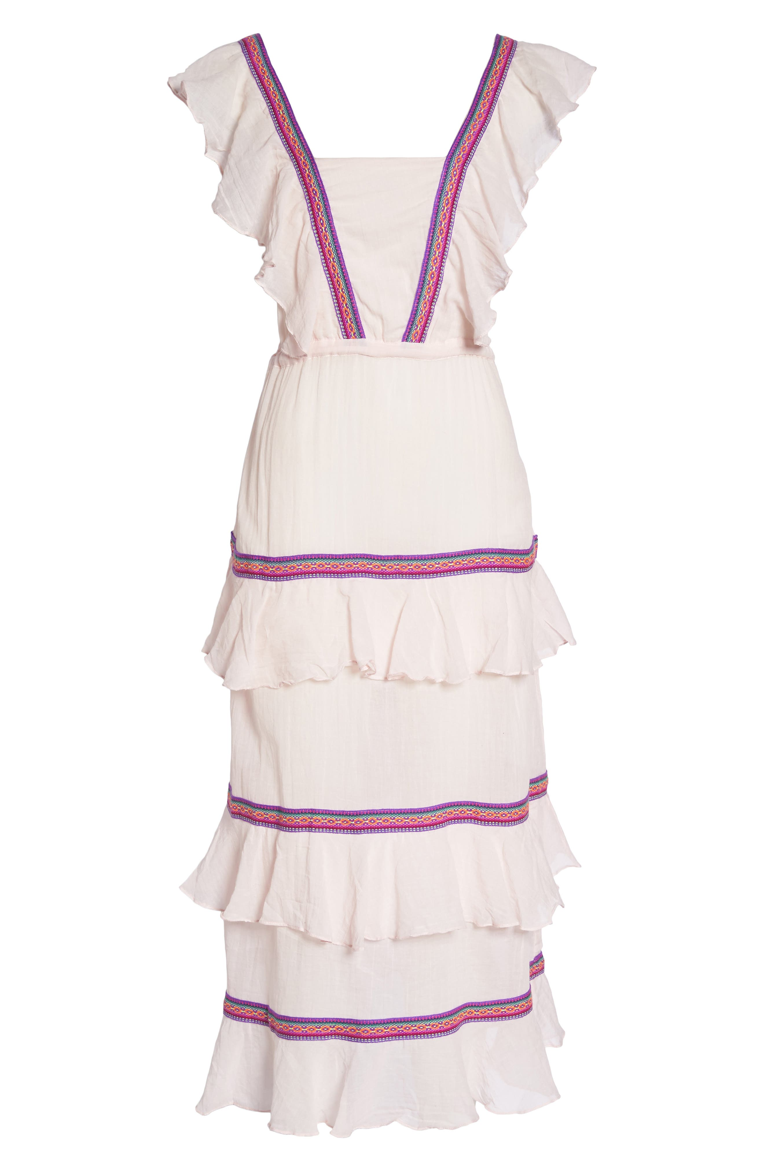 Eve Cover-Up Dress,                             Alternate thumbnail 6, color,                             Pale Pink