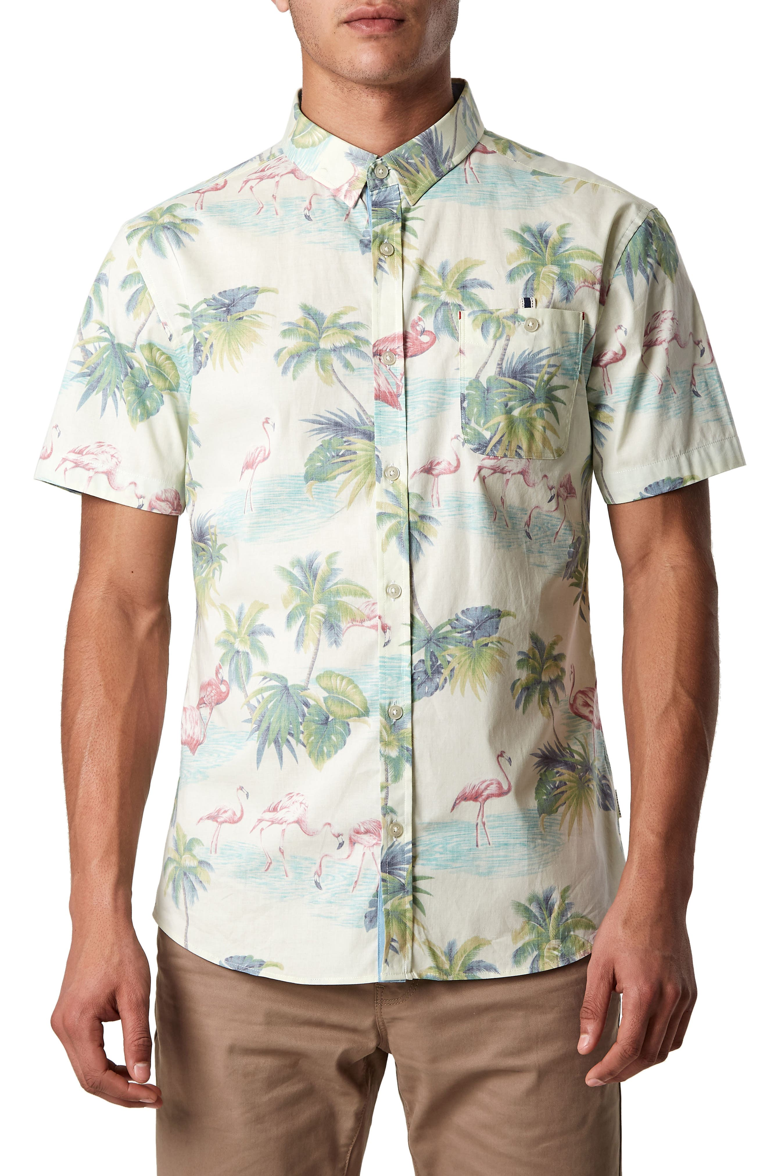 7 Diamonds Jungle Radio Stretch Sport Shirt