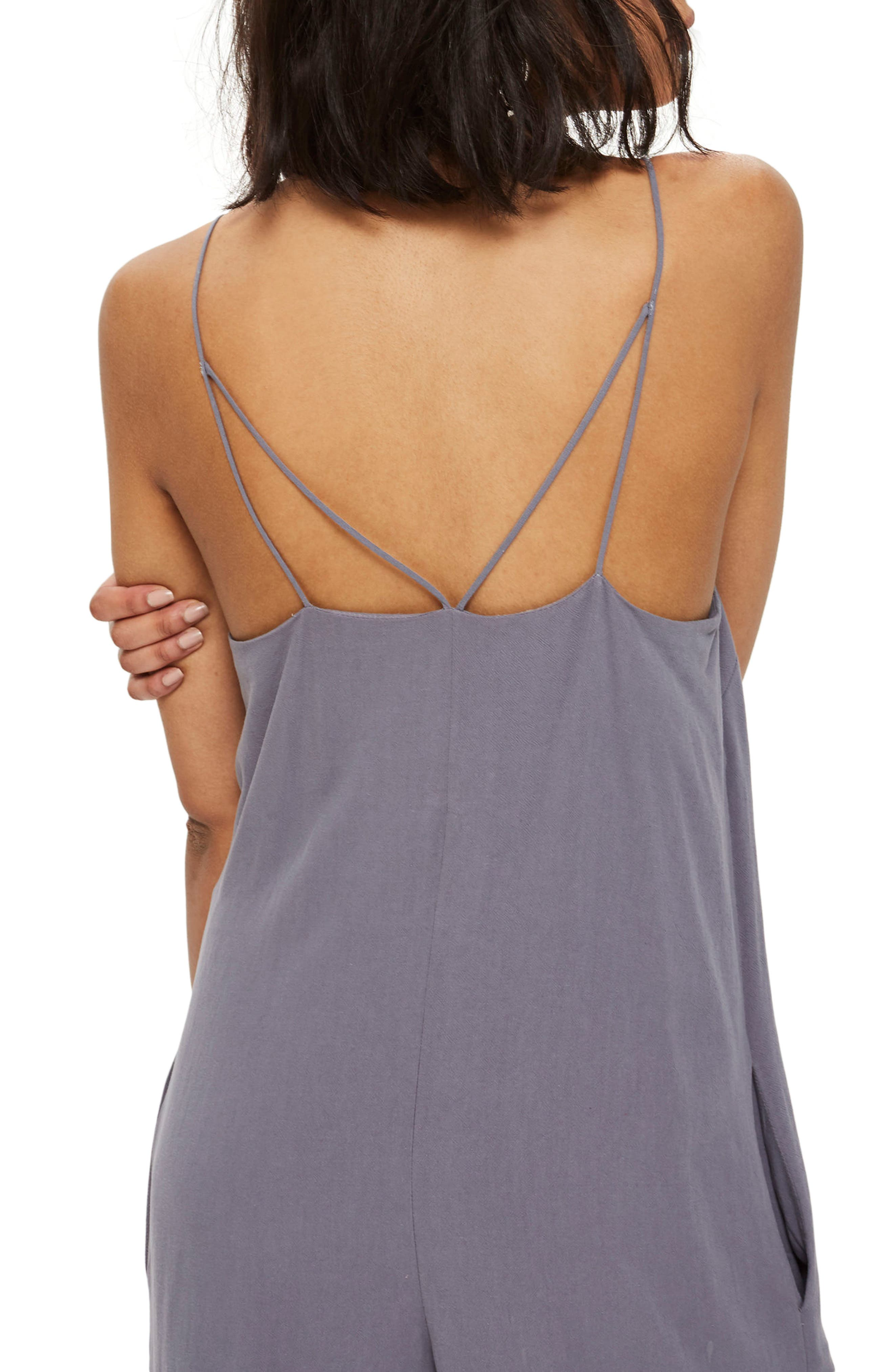 Alternate Image 2  - Topshop Molly Square Neck Slouch Jumpsuit