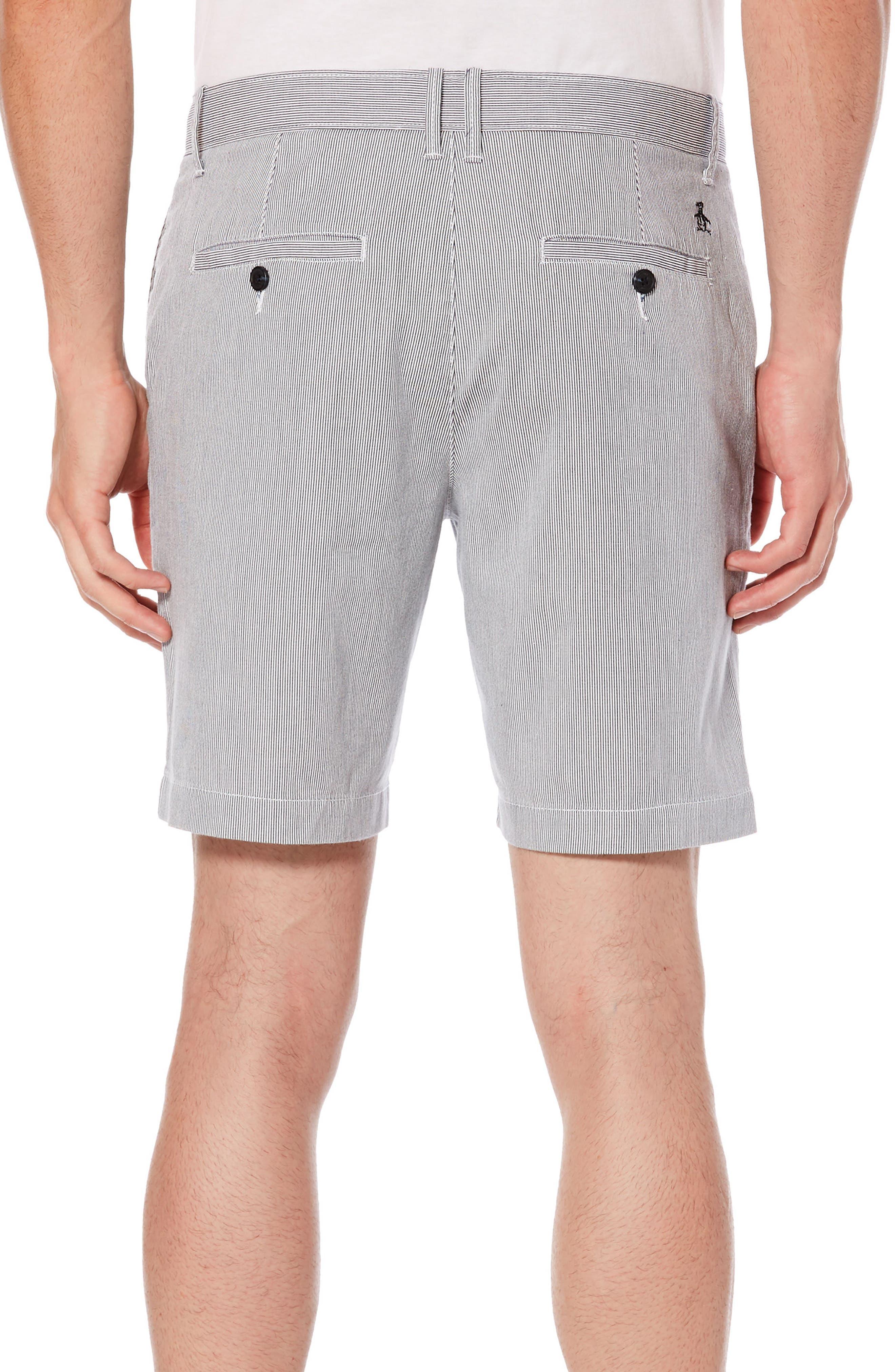 P55 Corded Stripe Shorts,                             Alternate thumbnail 2, color,                             Dark Sapphire