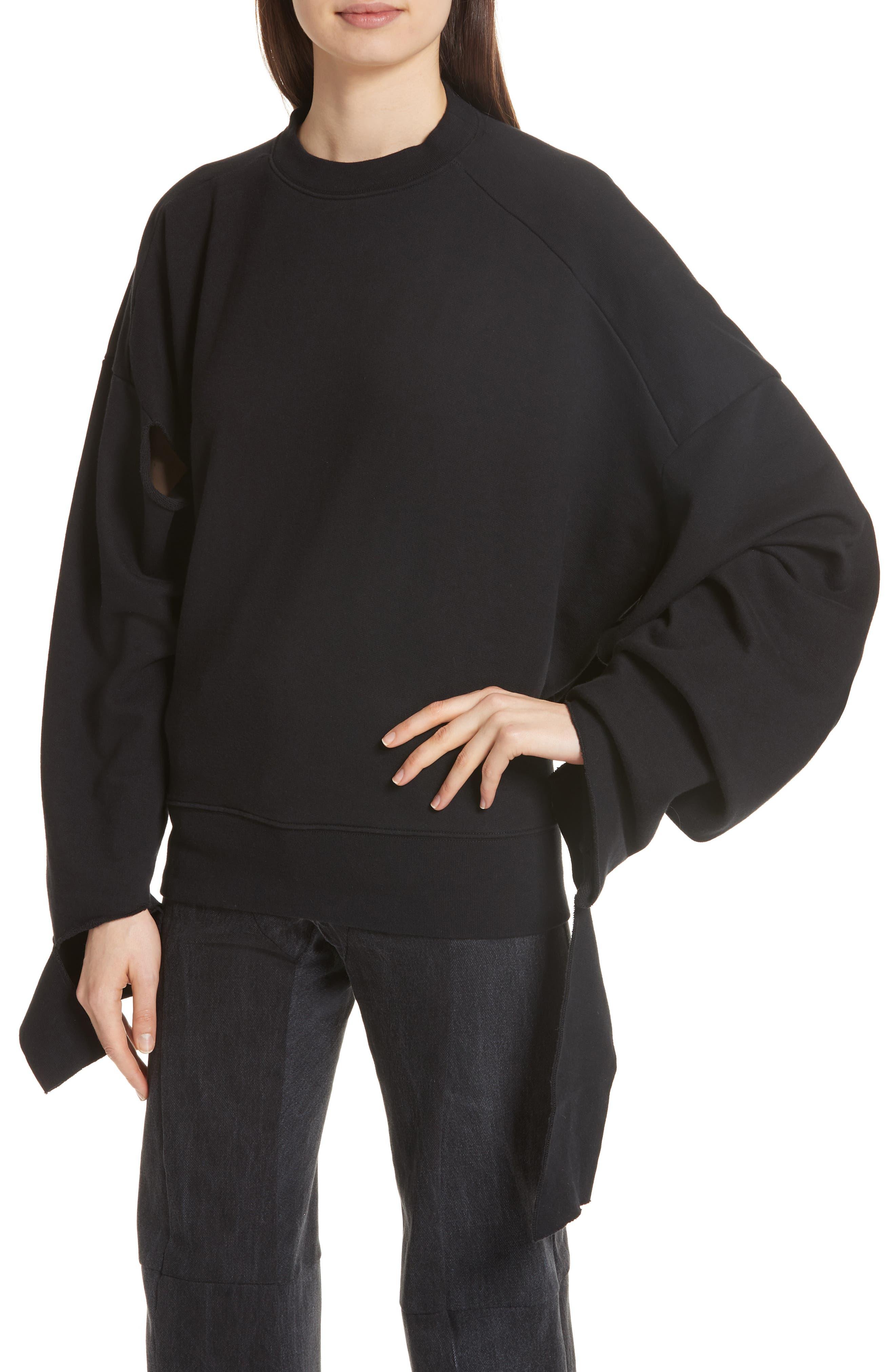 In Progress Crewneck Sweatshirt,                             Alternate thumbnail 4, color,                             Black
