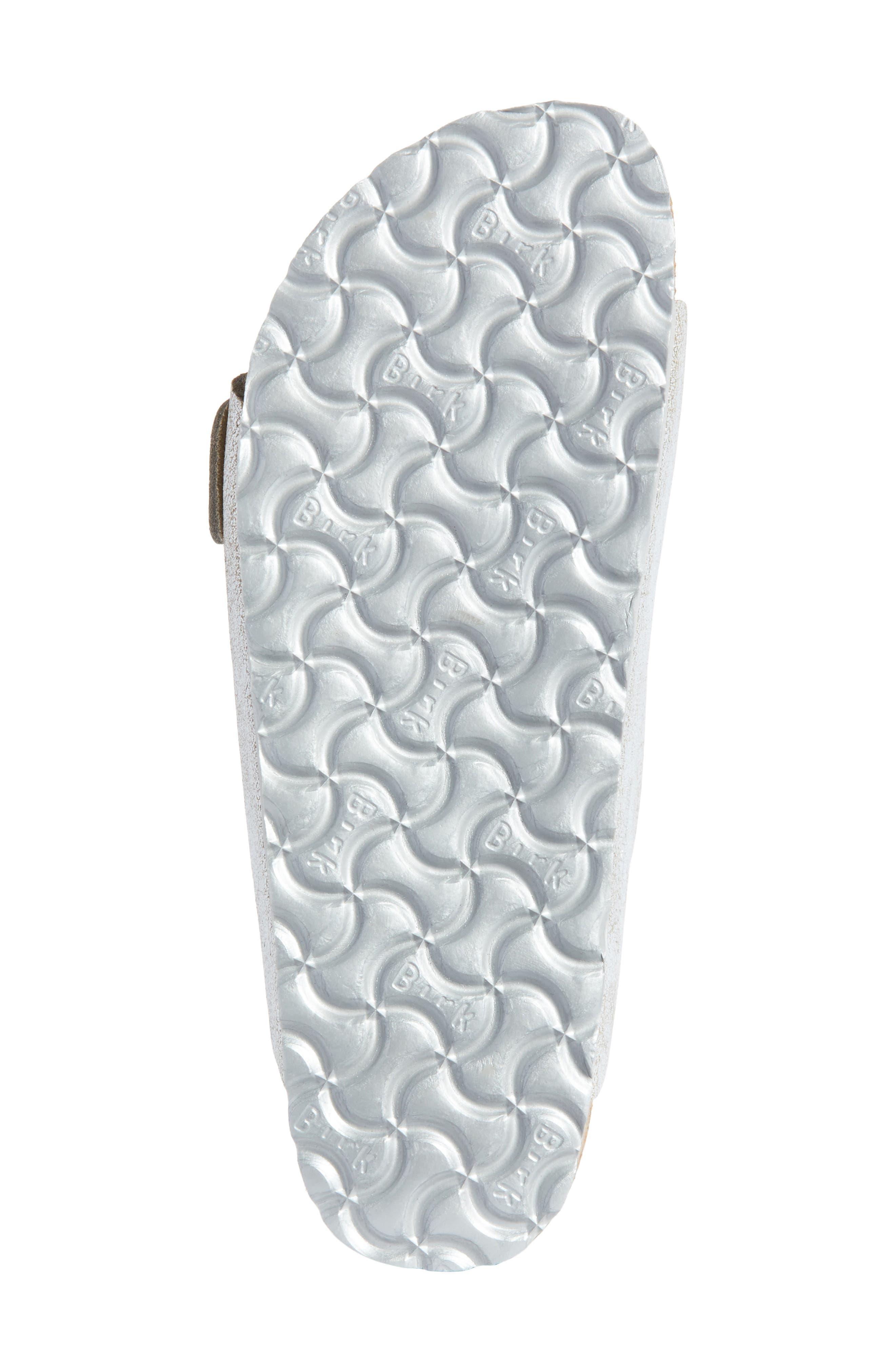 Arizona Sandal,                             Alternate thumbnail 6, color,                             Washed Metallic Blue Leather