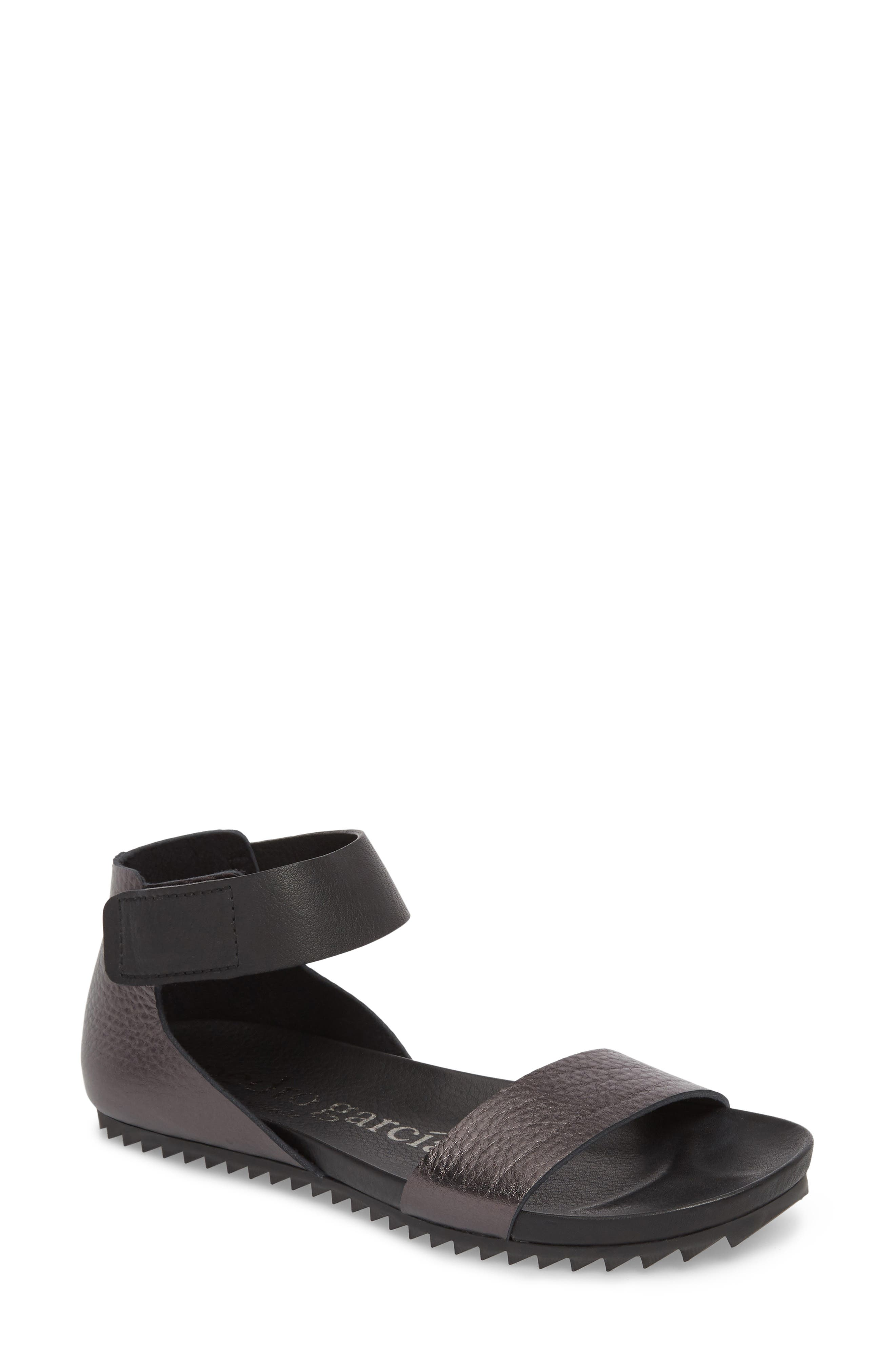 Jalila Ankle Strap Sandal,                         Main,                         color, Fox Cervo Lame