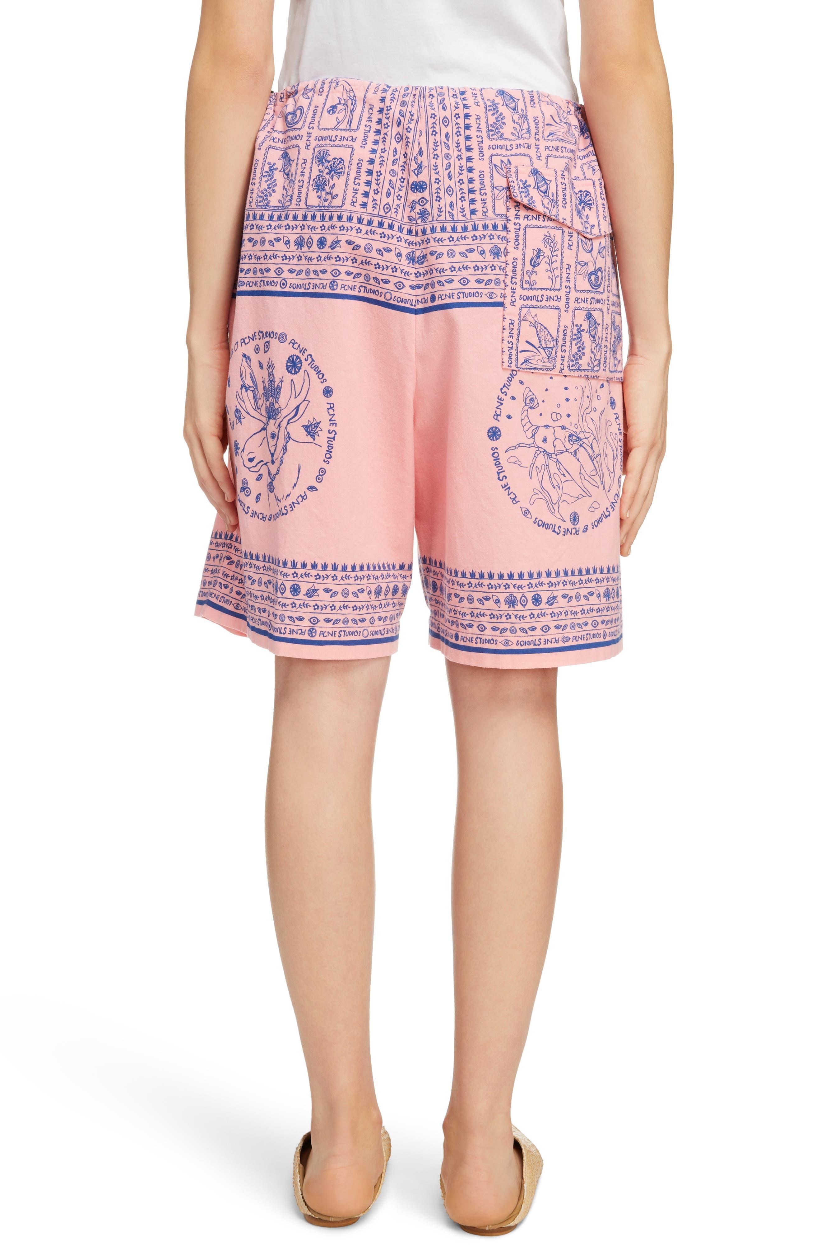 Nejlika Print Shorts,                             Alternate thumbnail 3, color,                             Pink Block Print