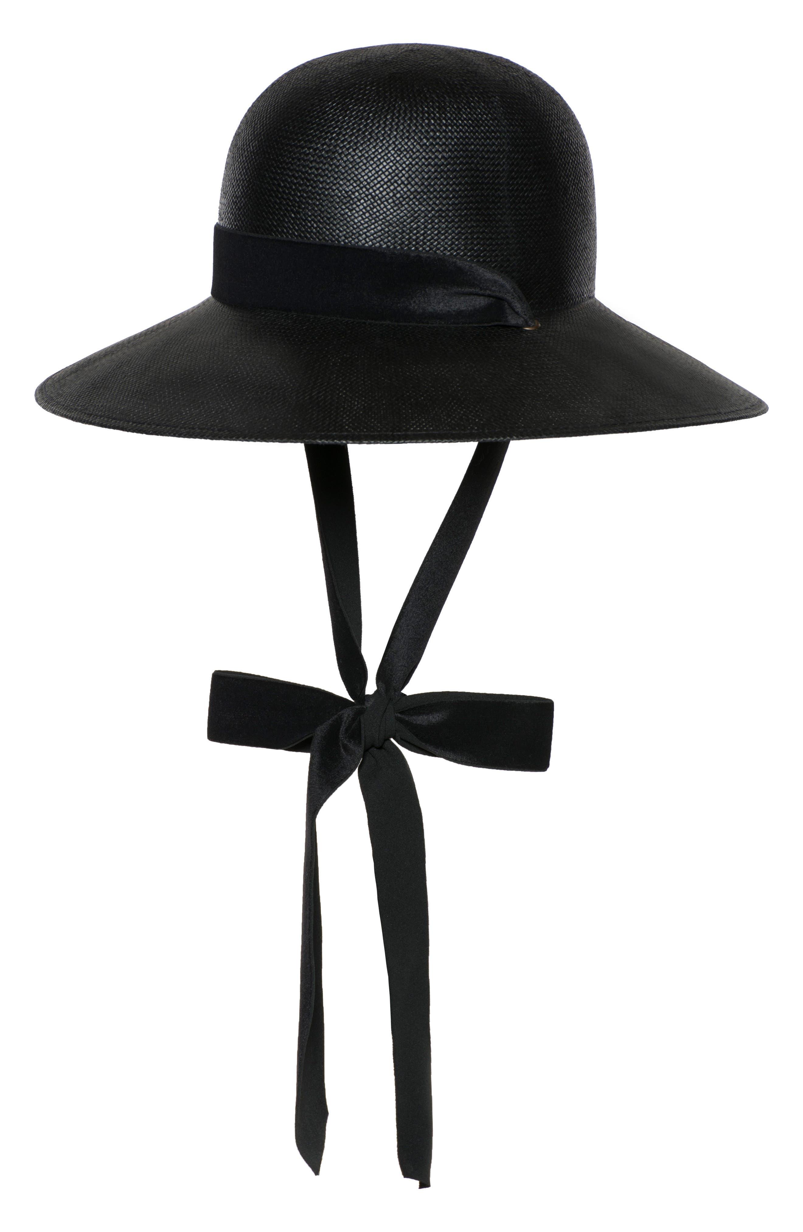 THE EMPRESS VELVET RIBBON HAT - BLACK