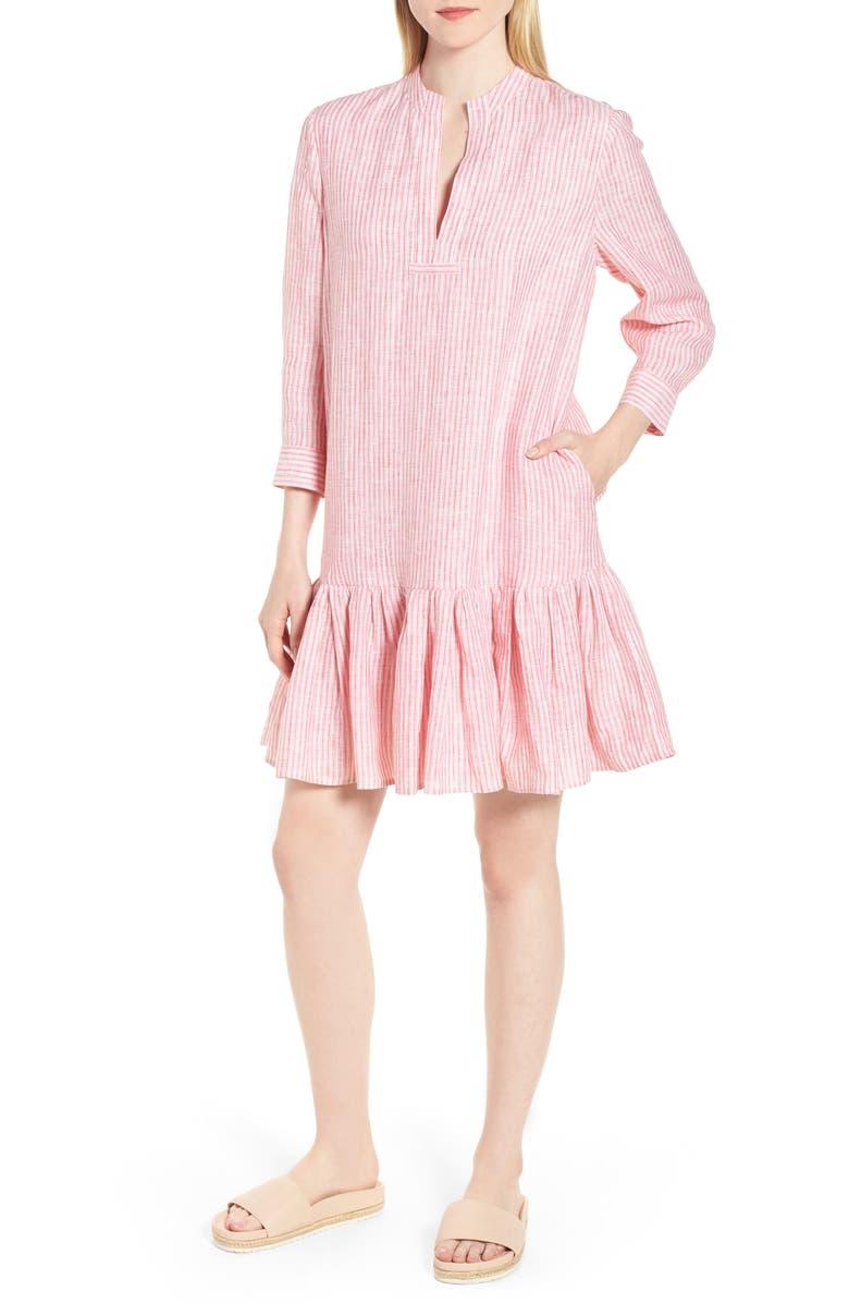 Stripe Drop Hem Dress