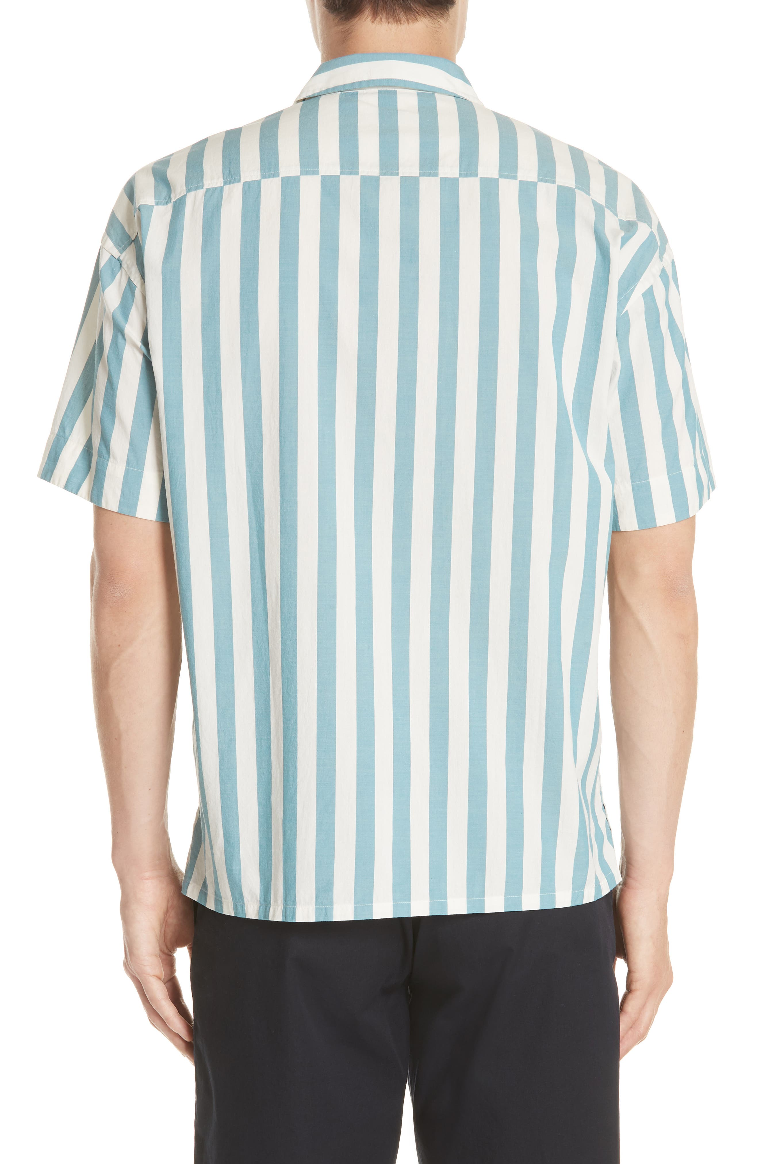 Harley Stripe Shirt,                             Alternate thumbnail 3, color,                             Pale Opal
