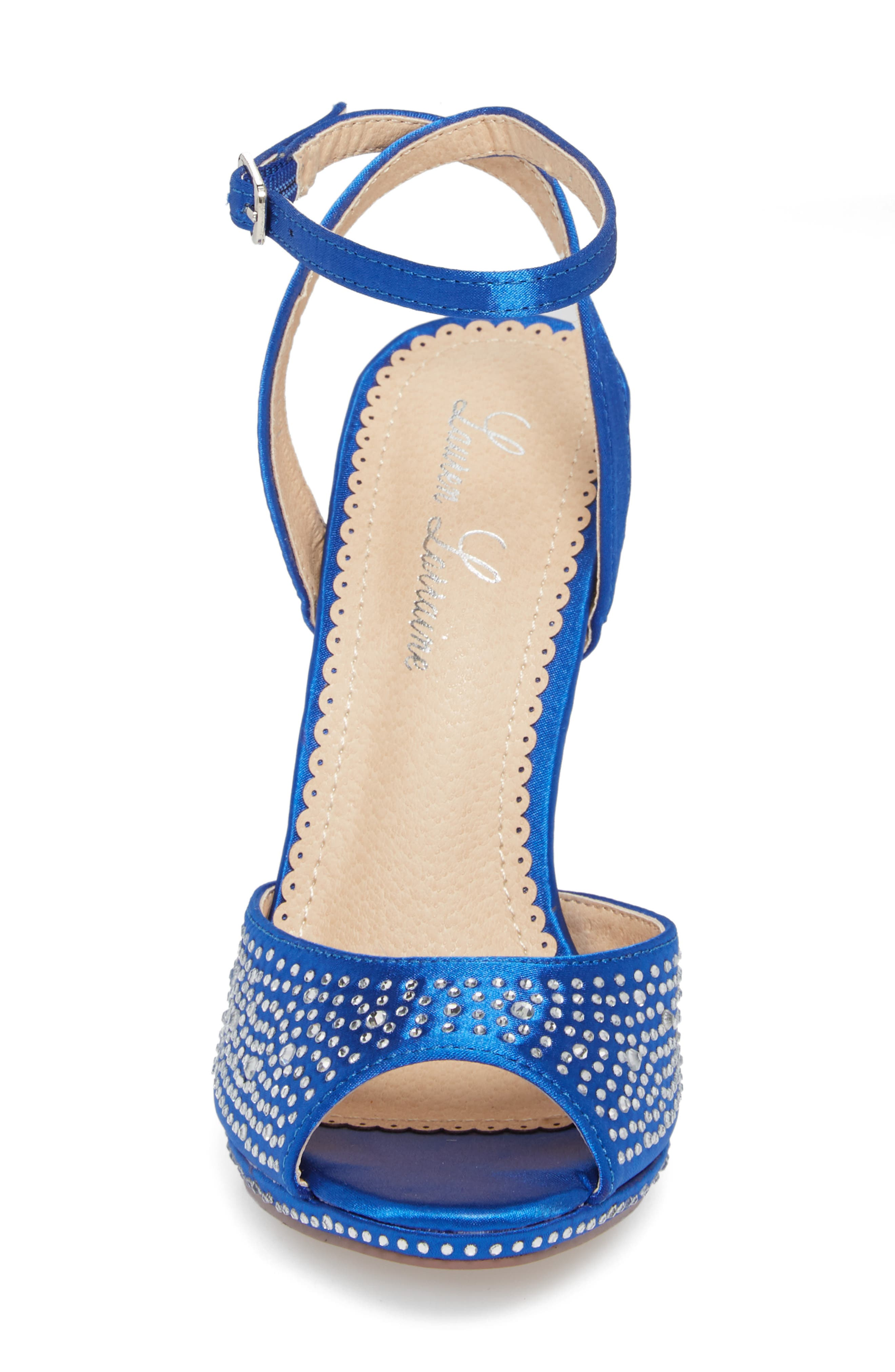 Tavi Sandal,                             Alternate thumbnail 4, color,                             Royal Blue Fabric