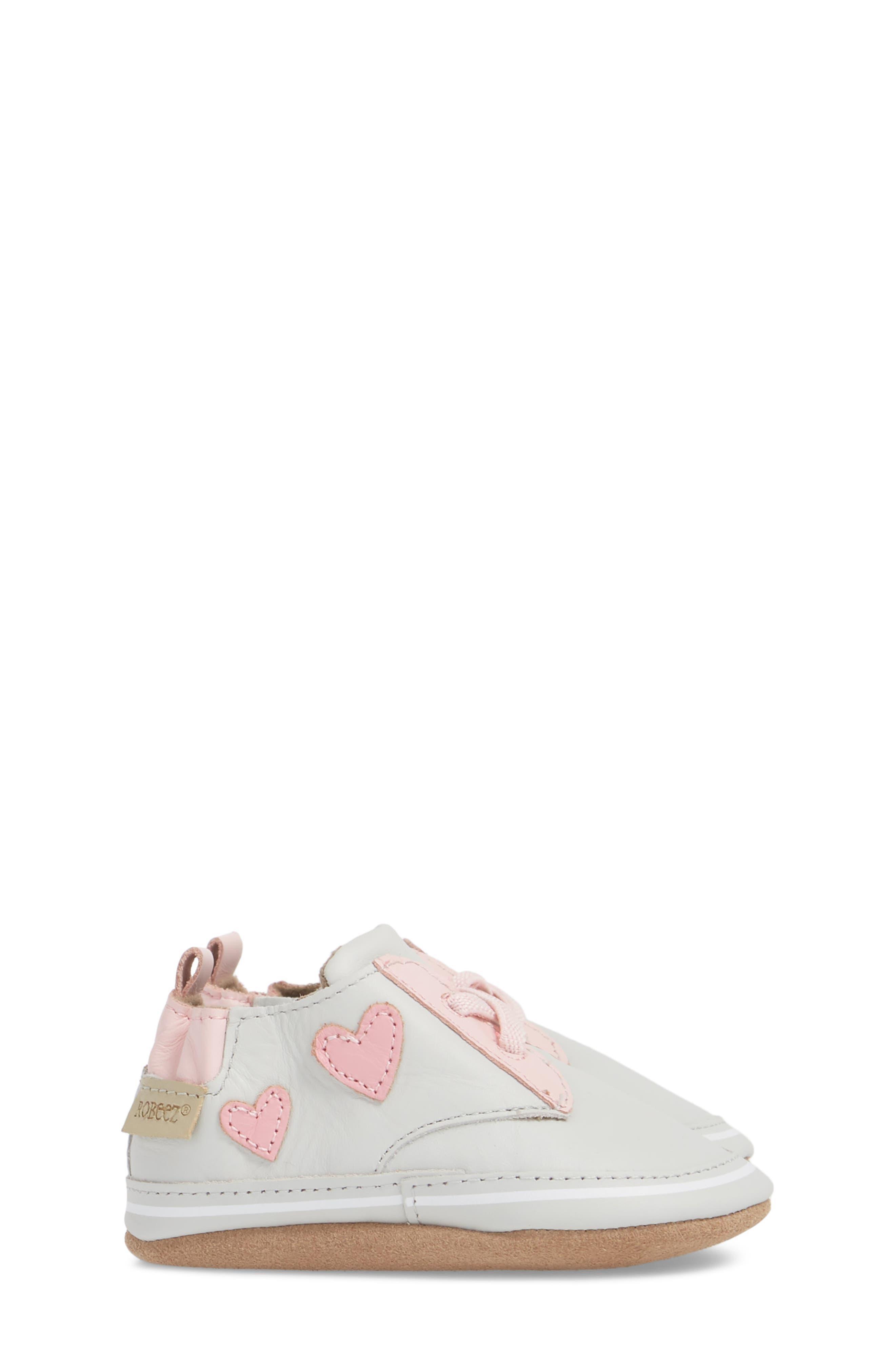 Heartbreaker Slip-On Crib Sneaker,                             Alternate thumbnail 4, color,                             Light Grey