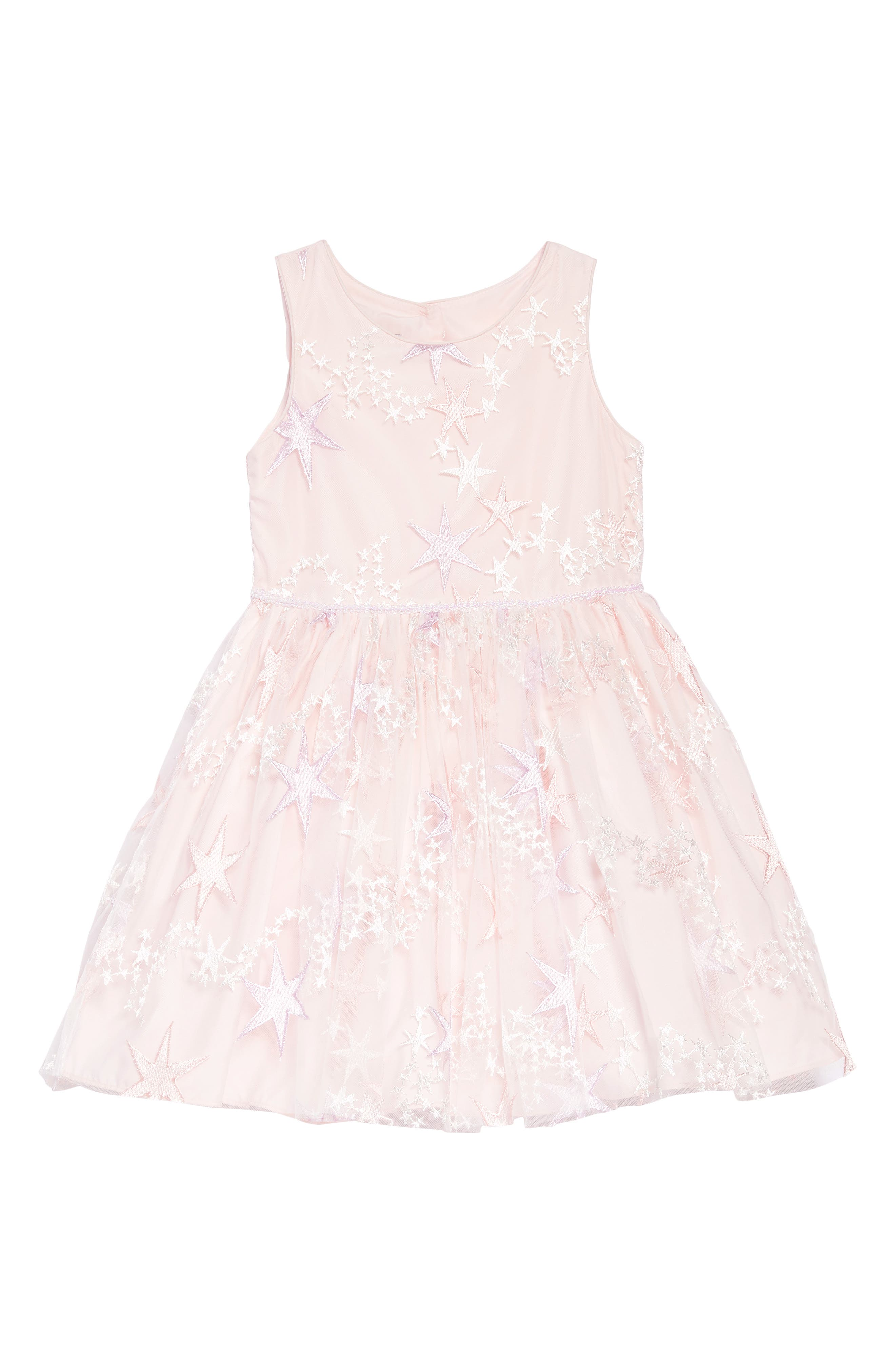 Main Image - Pippa & Julie Embroidered Star Dress (Toddler Girls, Little Girls & Big Girls)