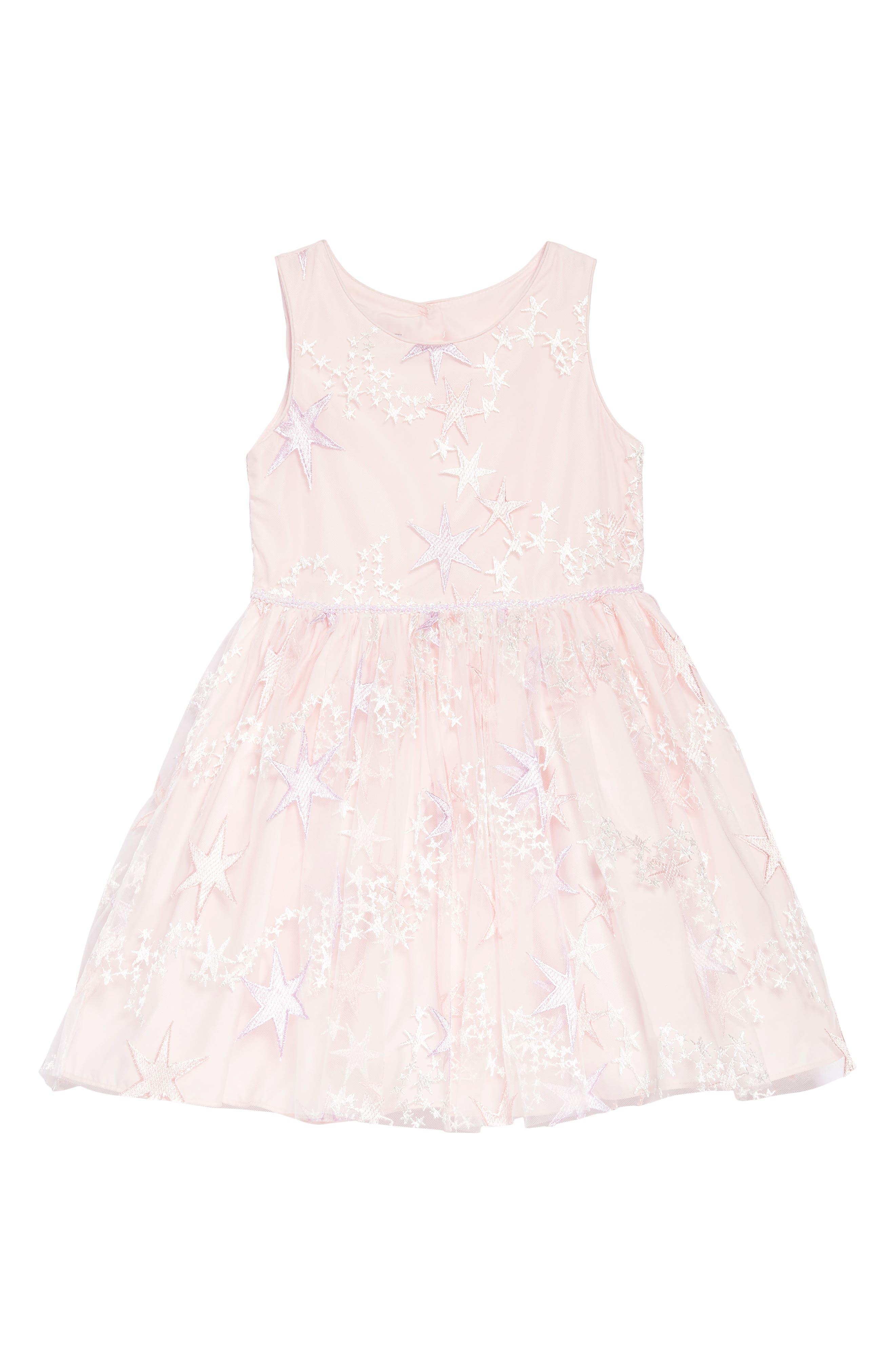 Pippa & Julie Embroidered Star Dress (Toddler Girls, Little Girls & Big Girls)