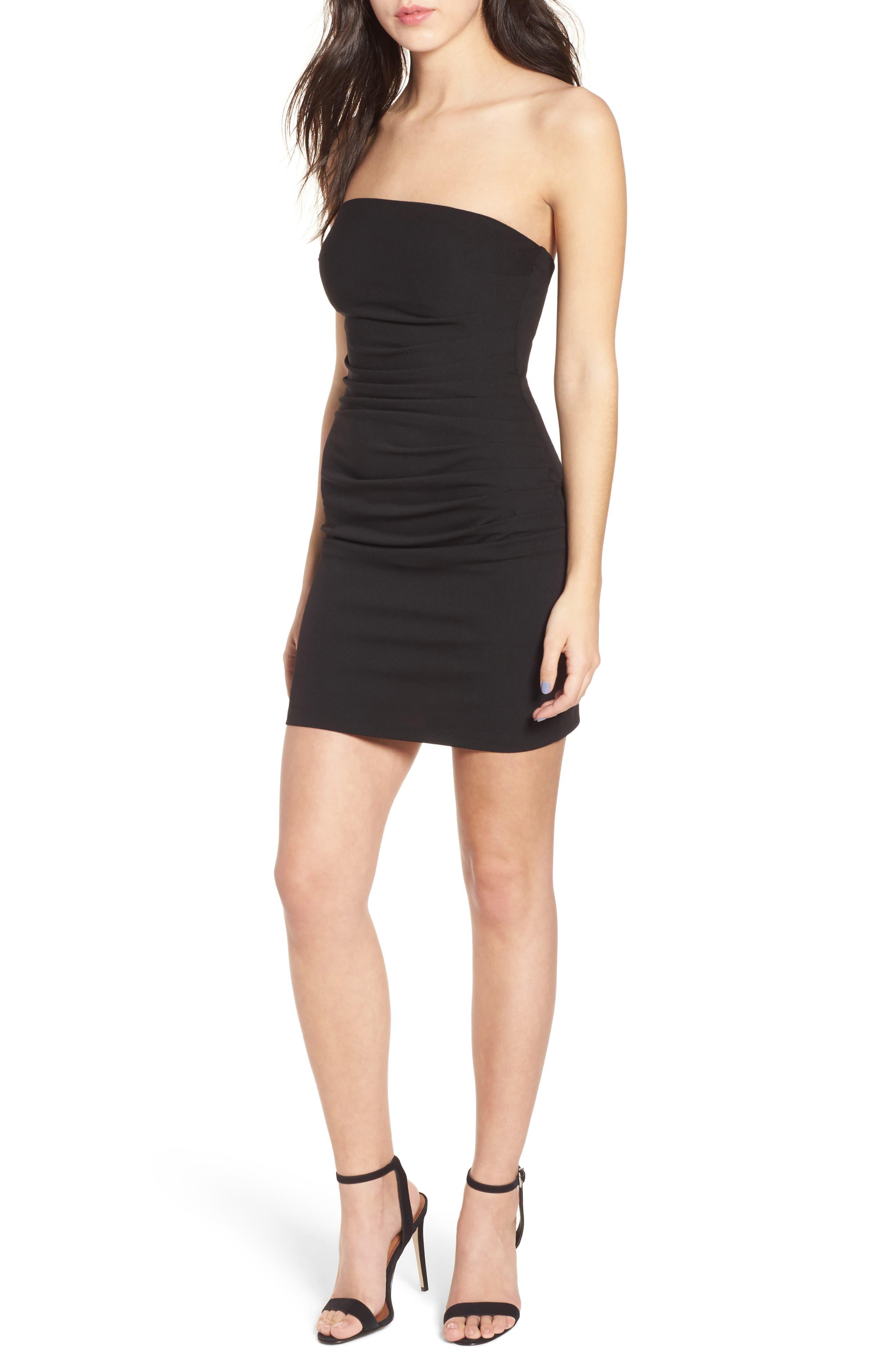 Tube Dress,                         Main,                         color, Black