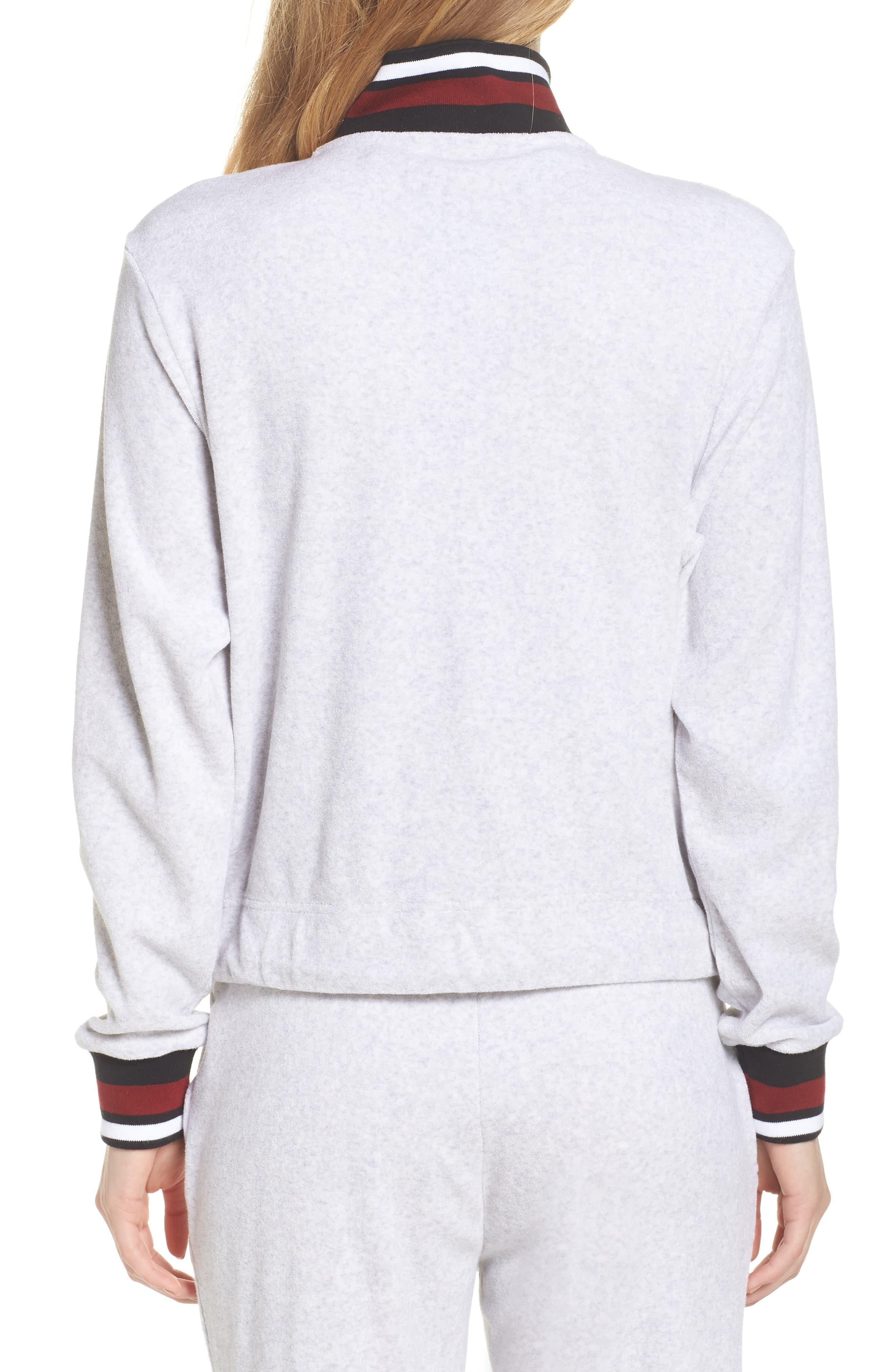 Sportswear French Terry Jacket,                             Alternate thumbnail 2, color,                             Birch Heather/ White/ Black