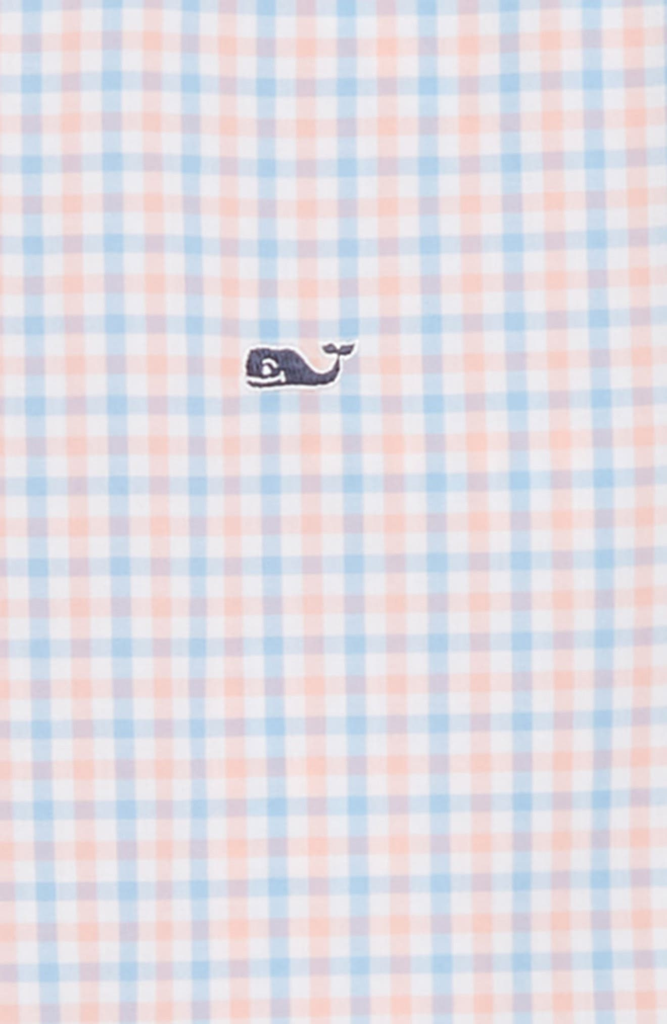 Winding Bay Gingham Woven Shirt,                             Alternate thumbnail 2, color,                             Bright Peach