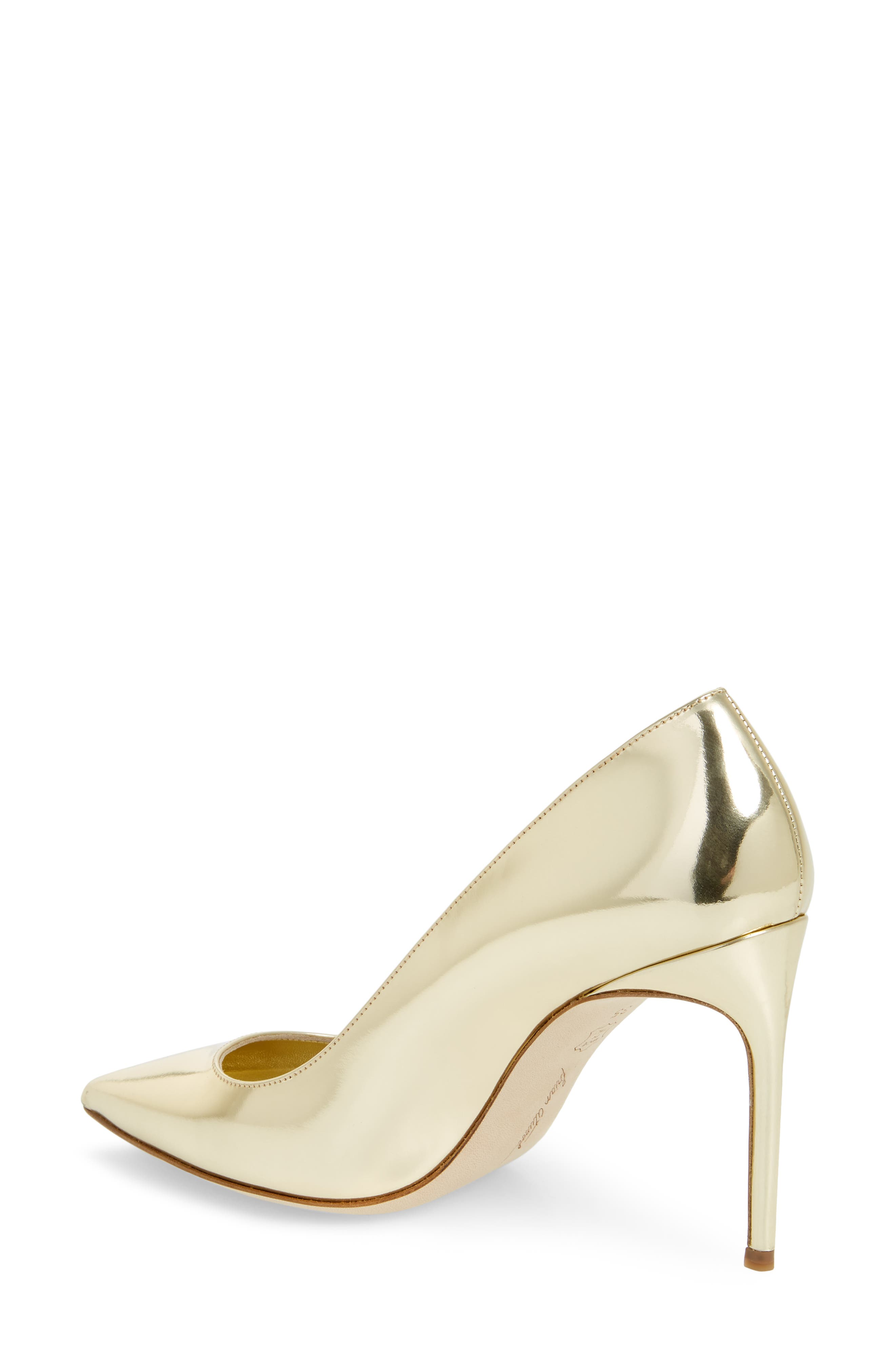 Valerie Pointy Toe Pump,                             Alternate thumbnail 2, color,                             Sahara Gold Specchio