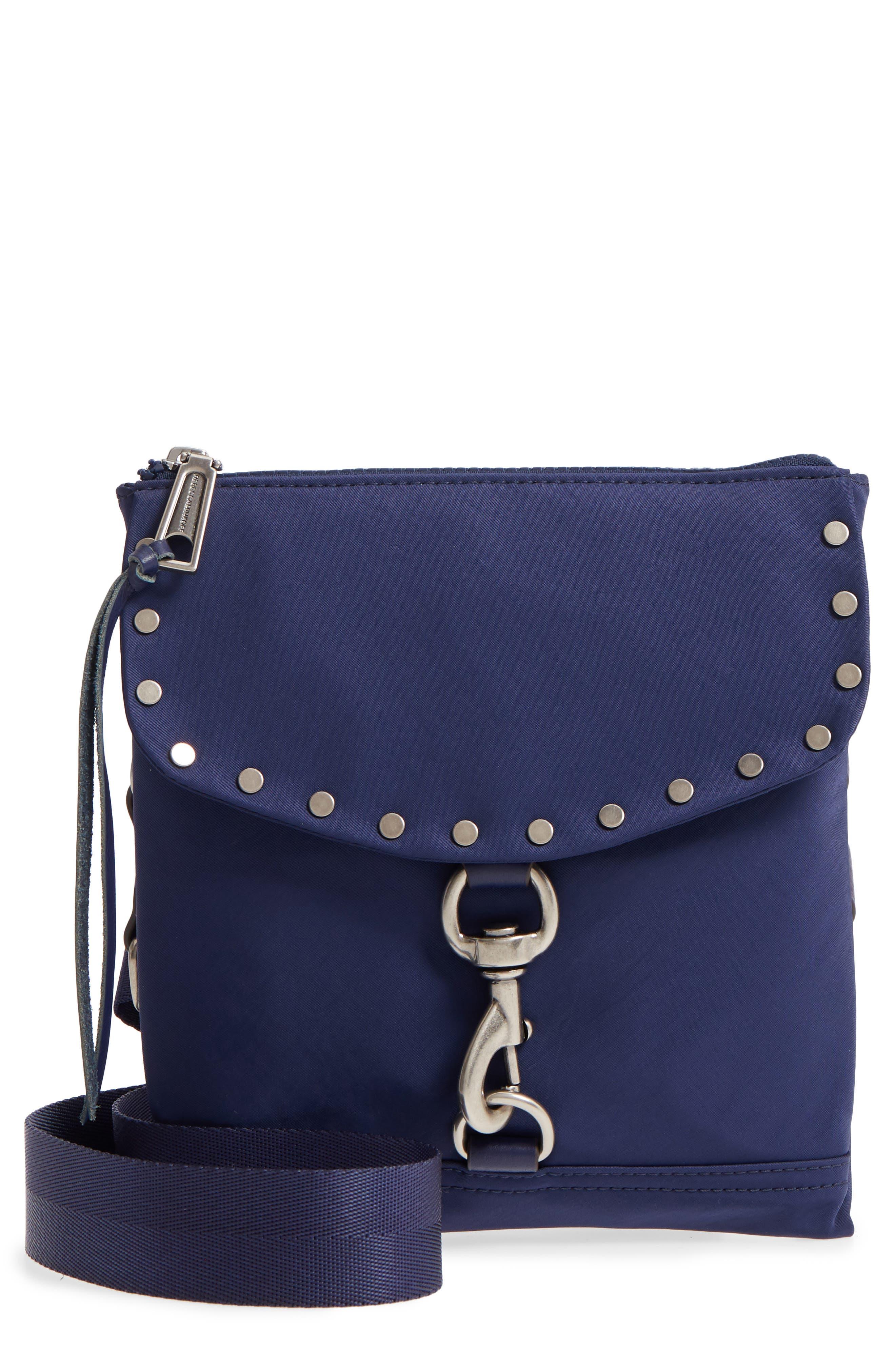Nylon Flap Crossbody Bag,                         Main,                         color, True Navy