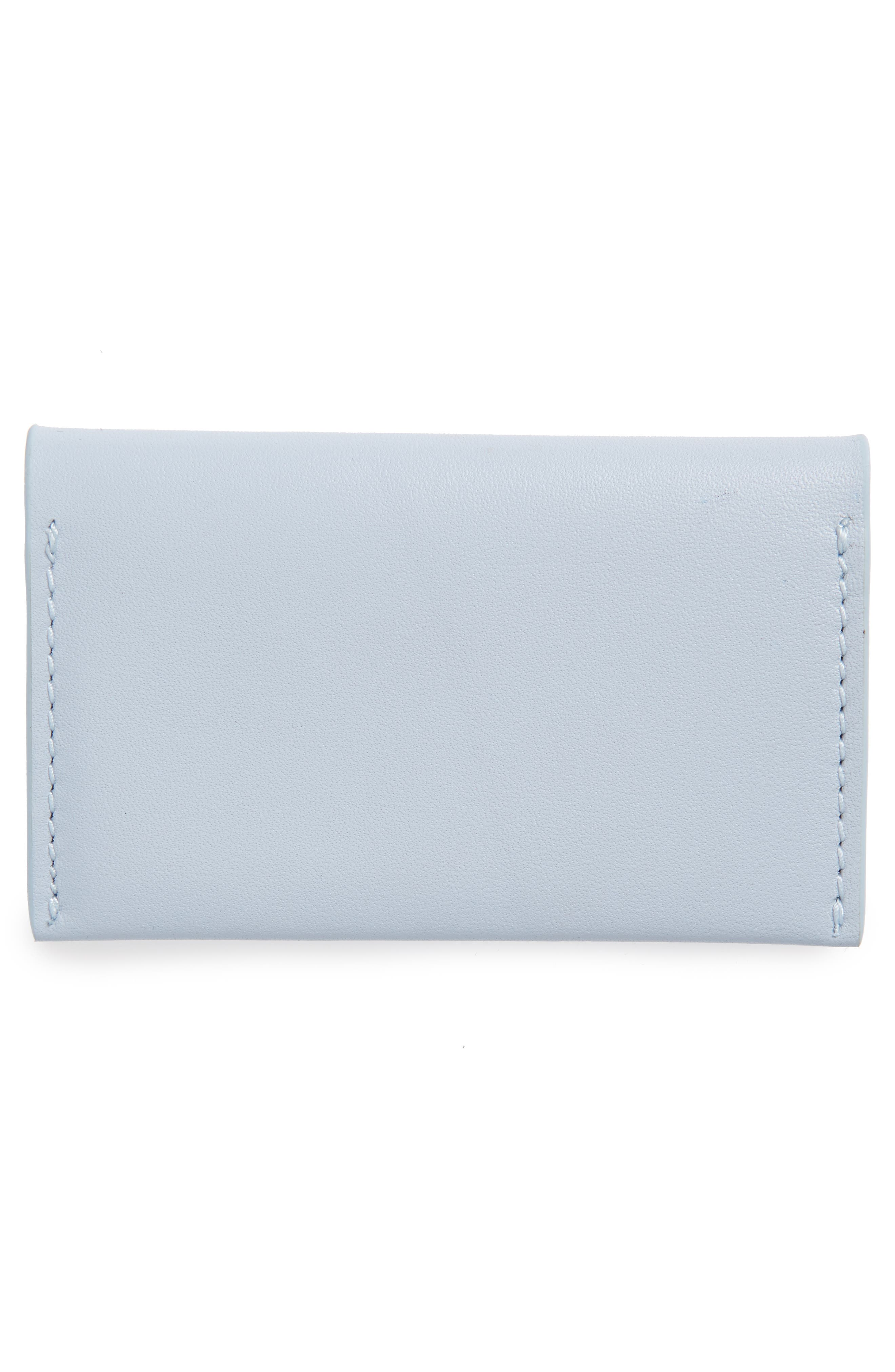 Leather Card Case,                             Alternate thumbnail 3, color,                             Powder Blue