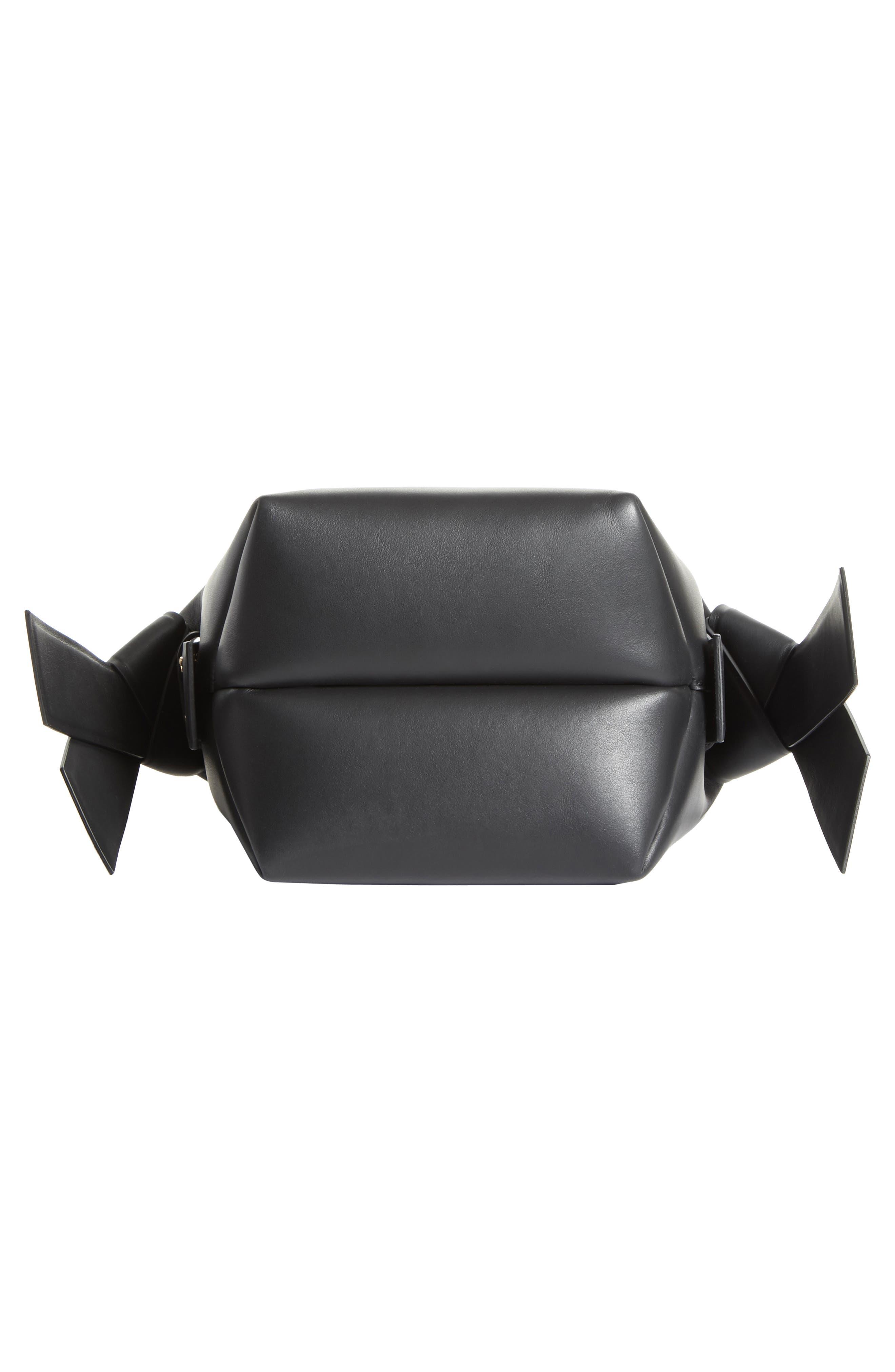 Musubi Leather Mini Bag,                             Alternate thumbnail 6, color,                             Black