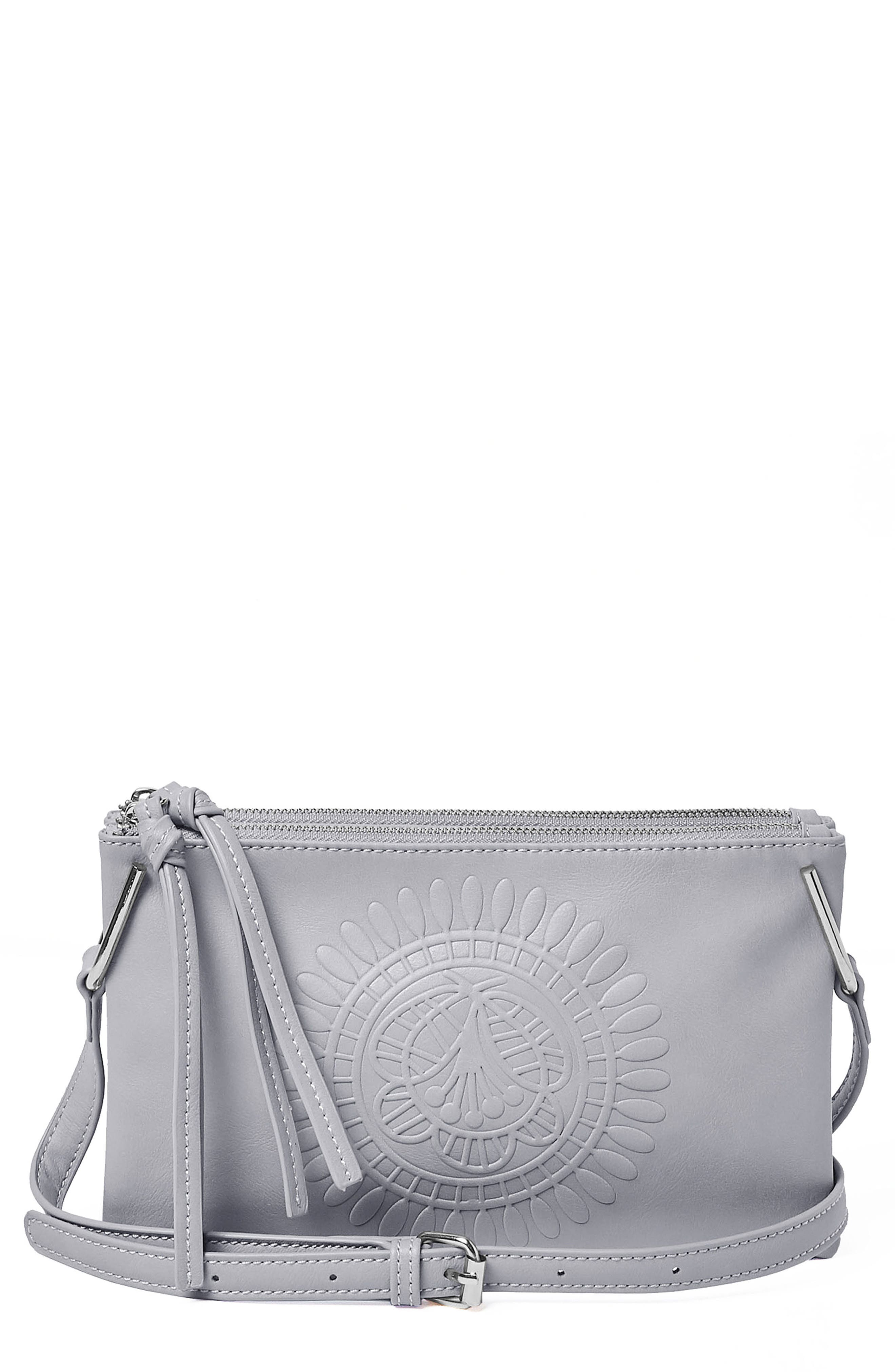 Urban Originals FLOWER VEGAN LEATHER CROSSBODY BAG - GREY