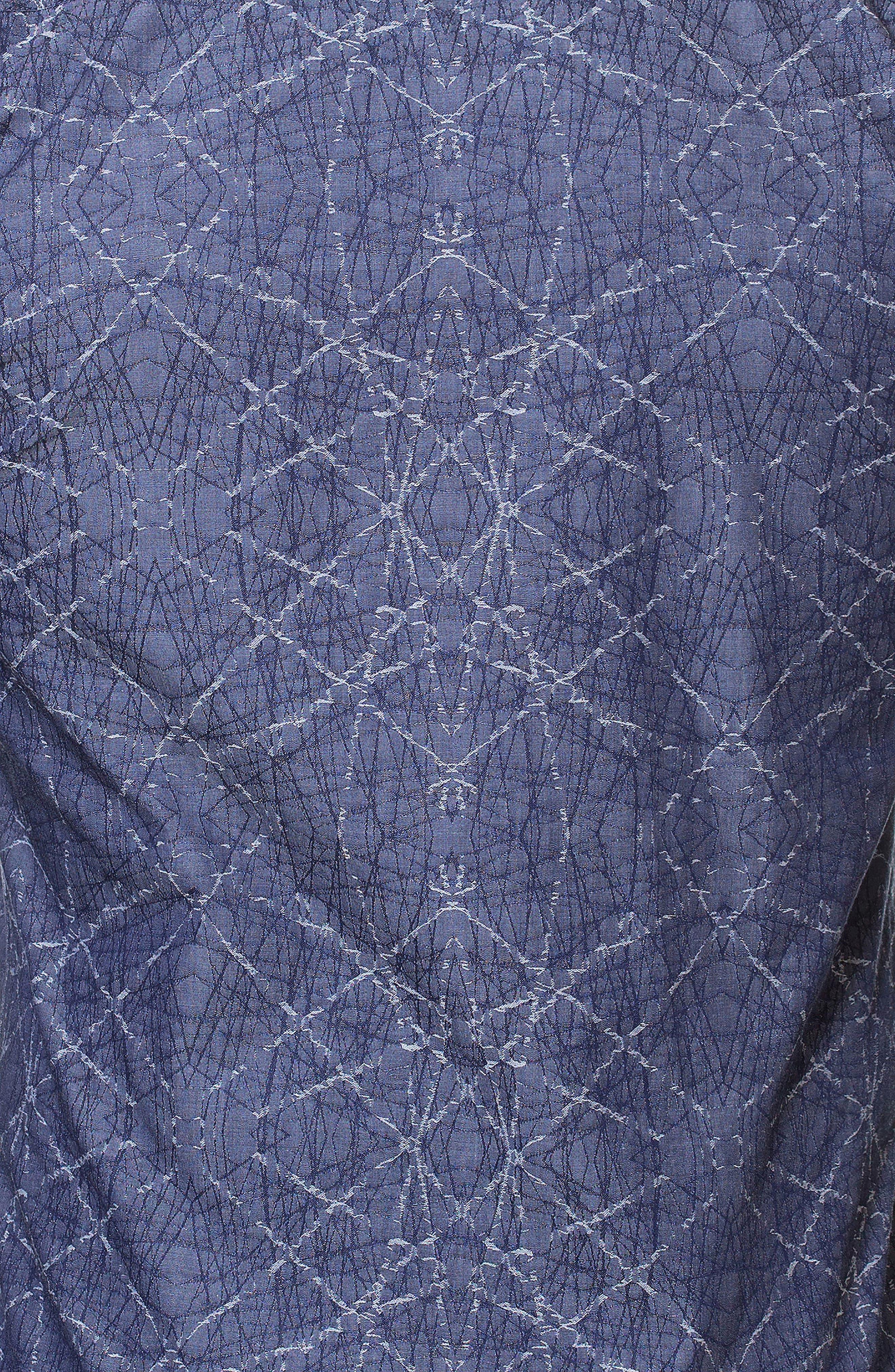 Luxor Spider Slim Fit Sport Shirt,                             Alternate thumbnail 4, color,                             Blue