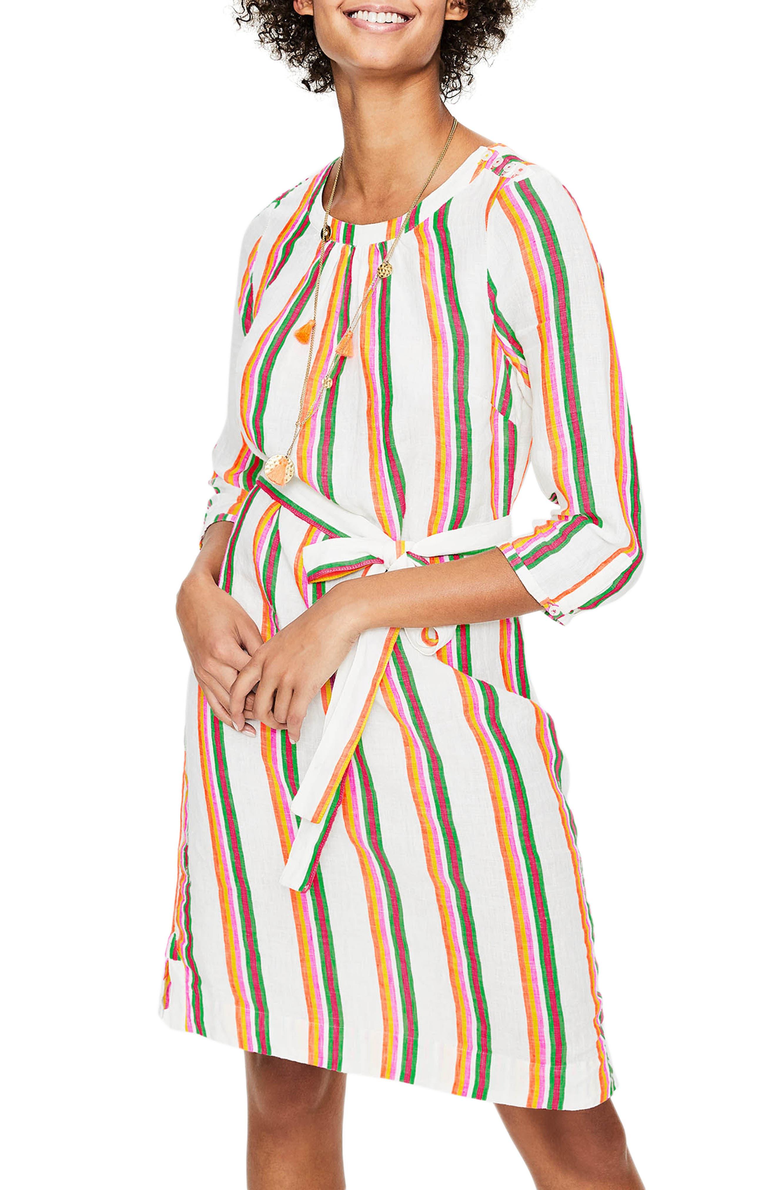 Boden Katie Striped Peasant Dress