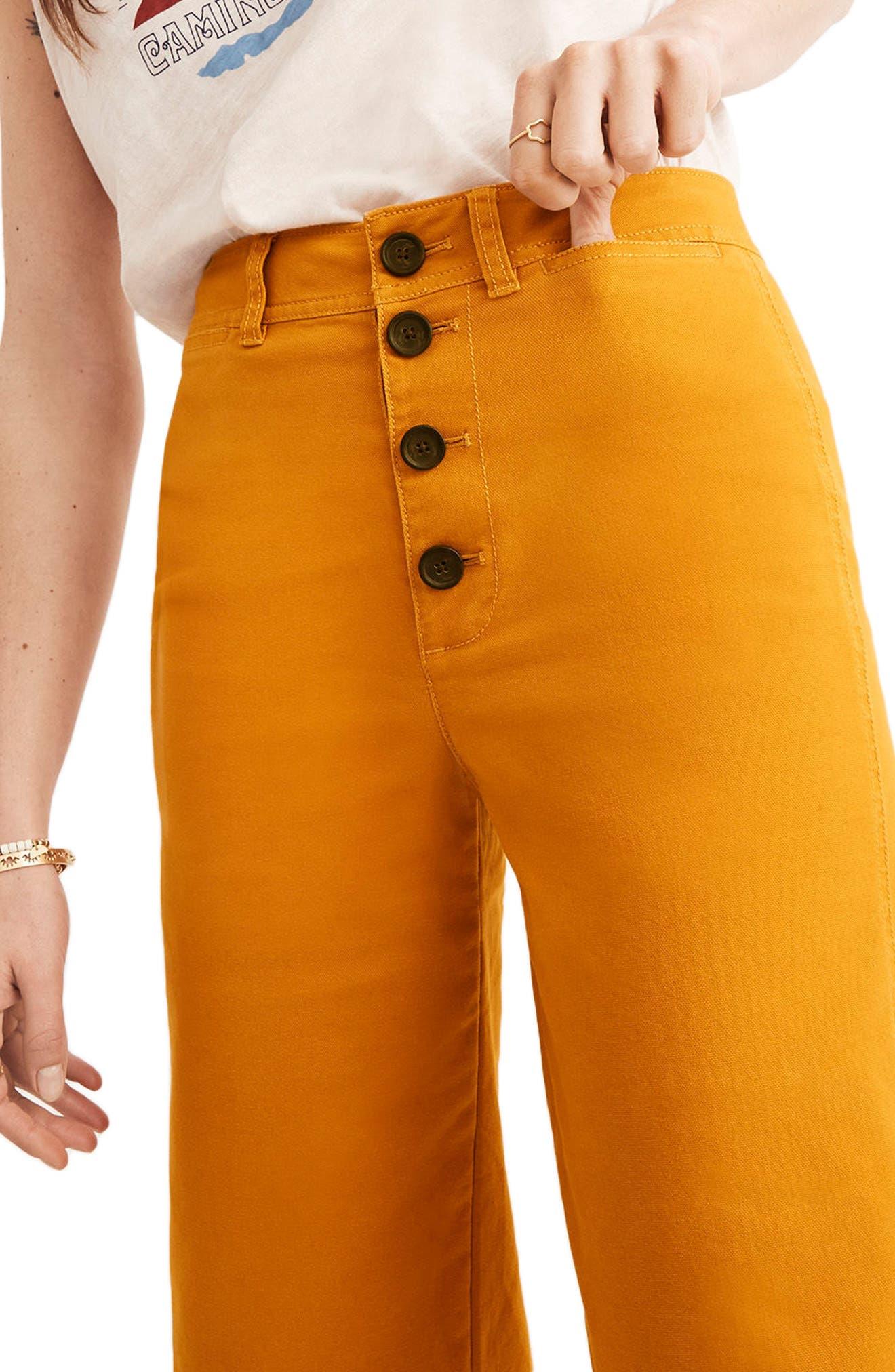 Alternate Image 3  - Madewell Emmett Wide Leg Crop Pants