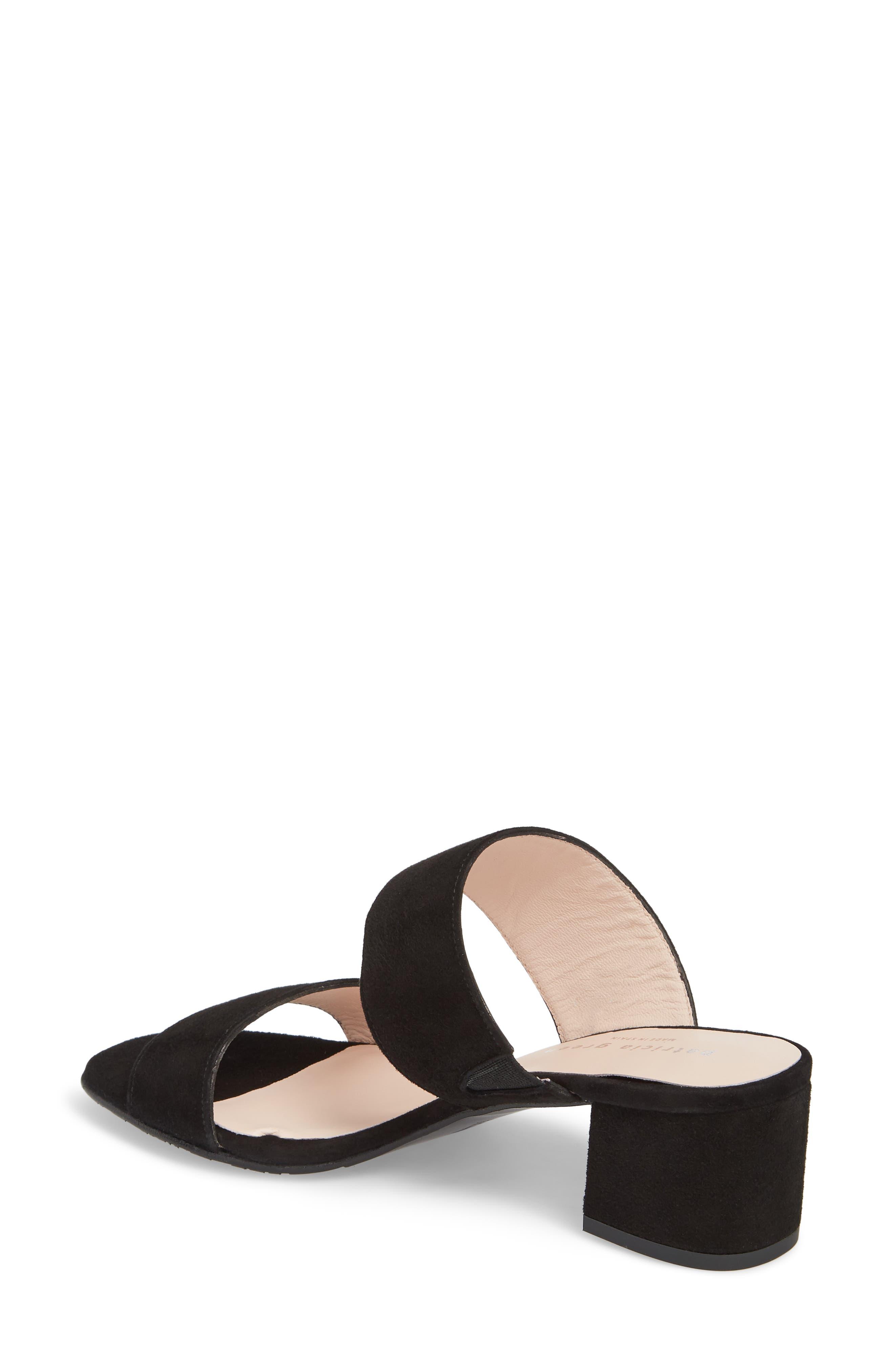 Lola Slide Sandal,                             Alternate thumbnail 2, color,                             Black Suede