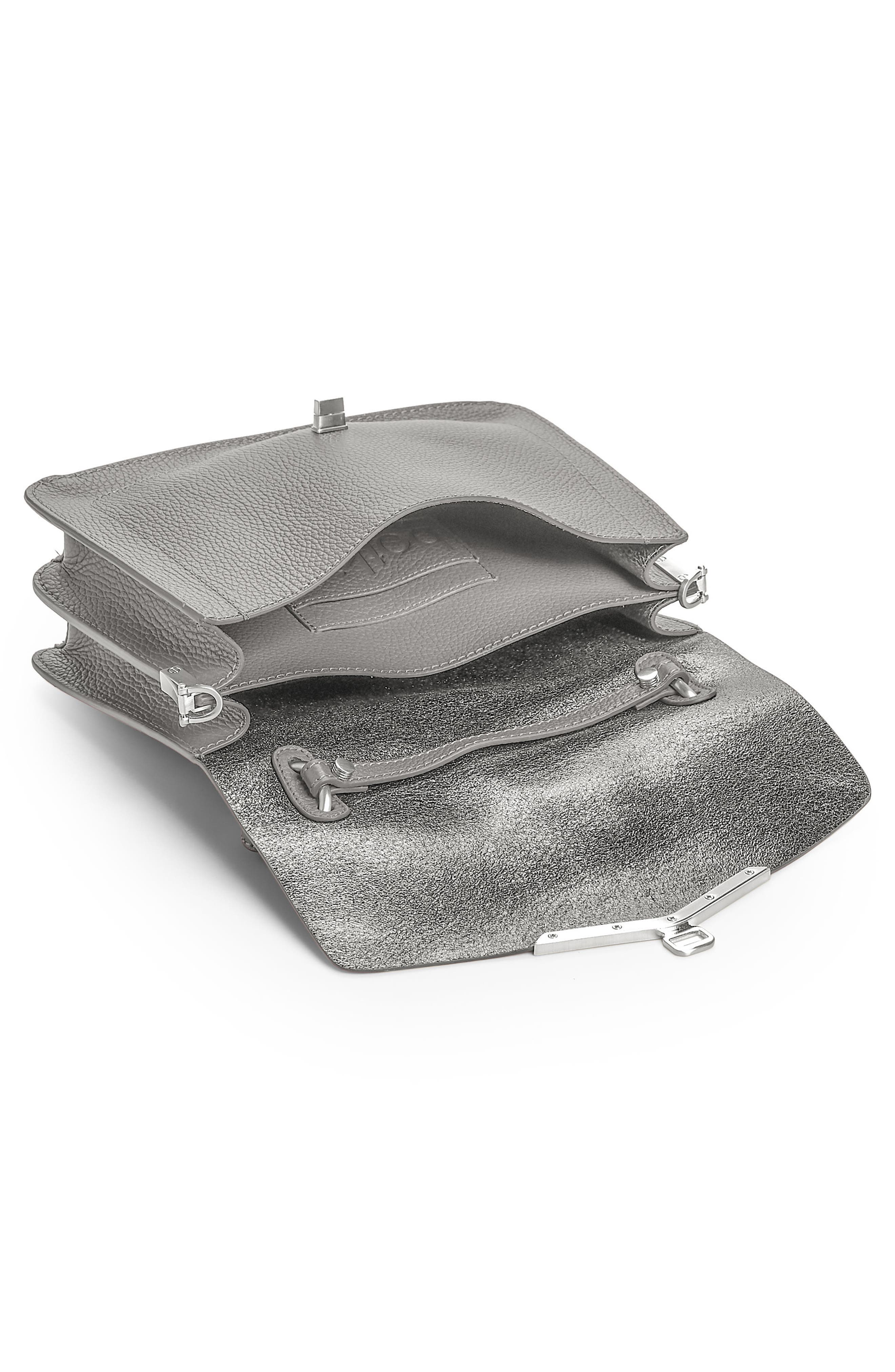 Vivi Calfskin Leather Satchel,                             Alternate thumbnail 2, color,                             Grey