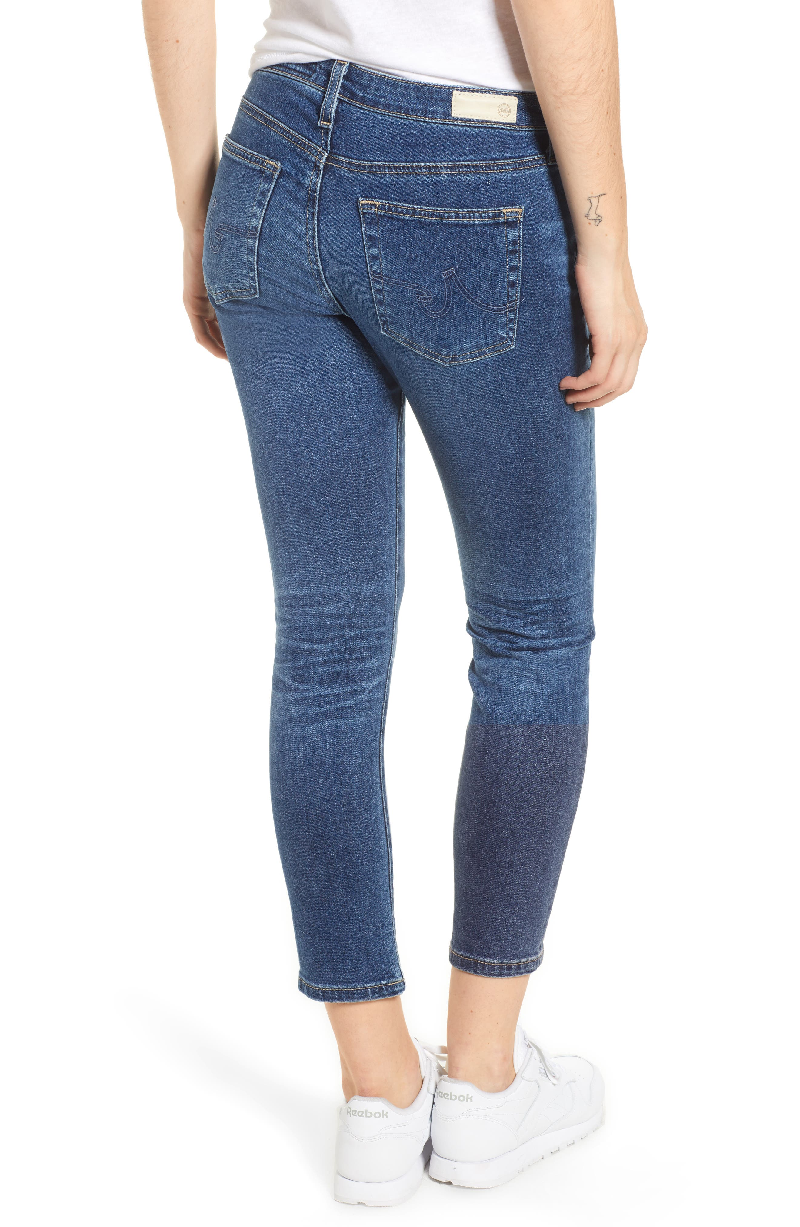 Prima Distressed Crop Cigarette Jeans,                             Alternate thumbnail 2, color,                             10 Years Cambria