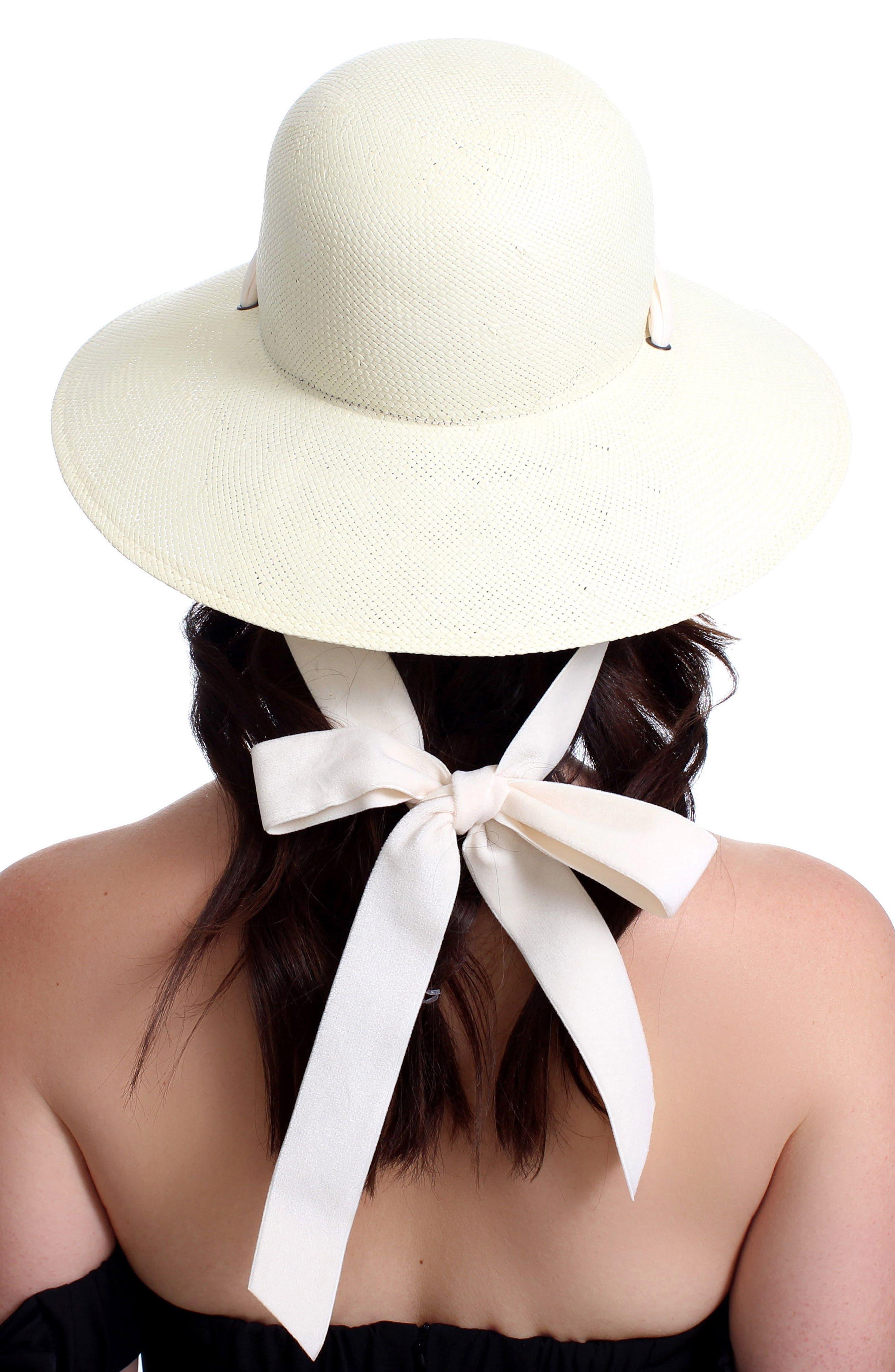 The Empress Velvet Ribbon Hat,                             Alternate thumbnail 2, color,                             Ivory