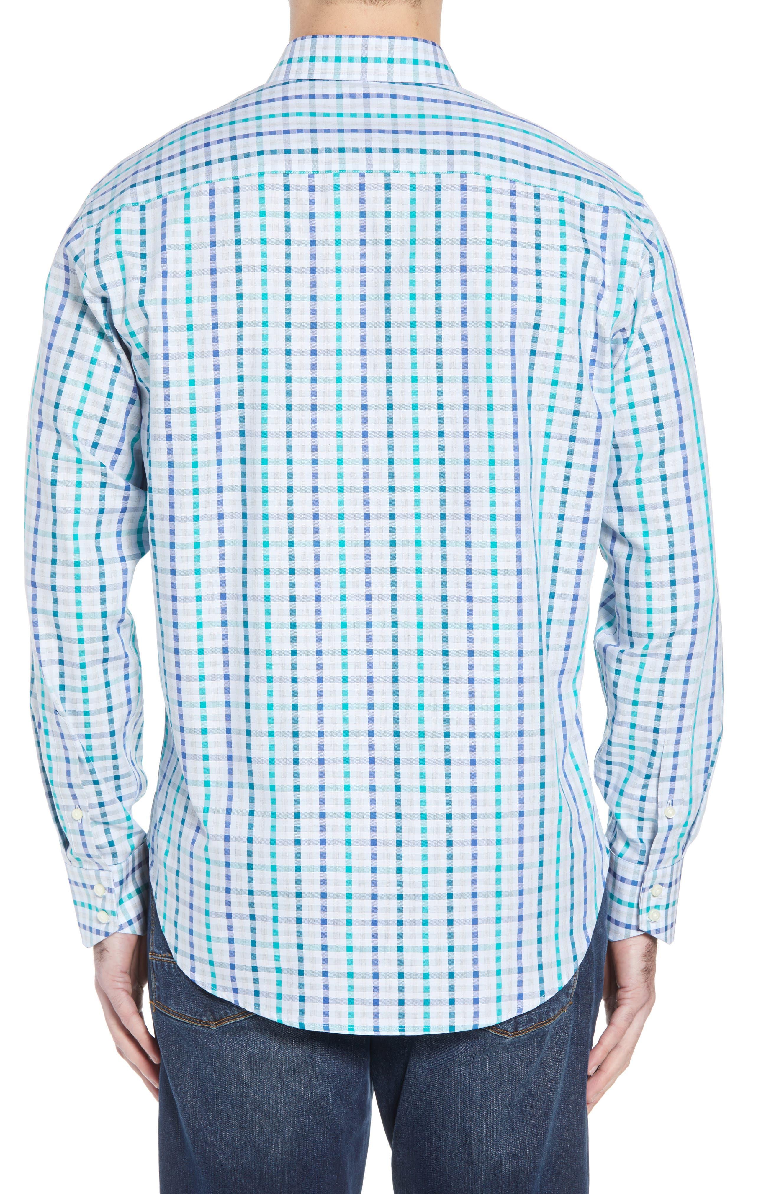 Regular Fit Check Sport Shirt,                             Alternate thumbnail 2, color,                             Green