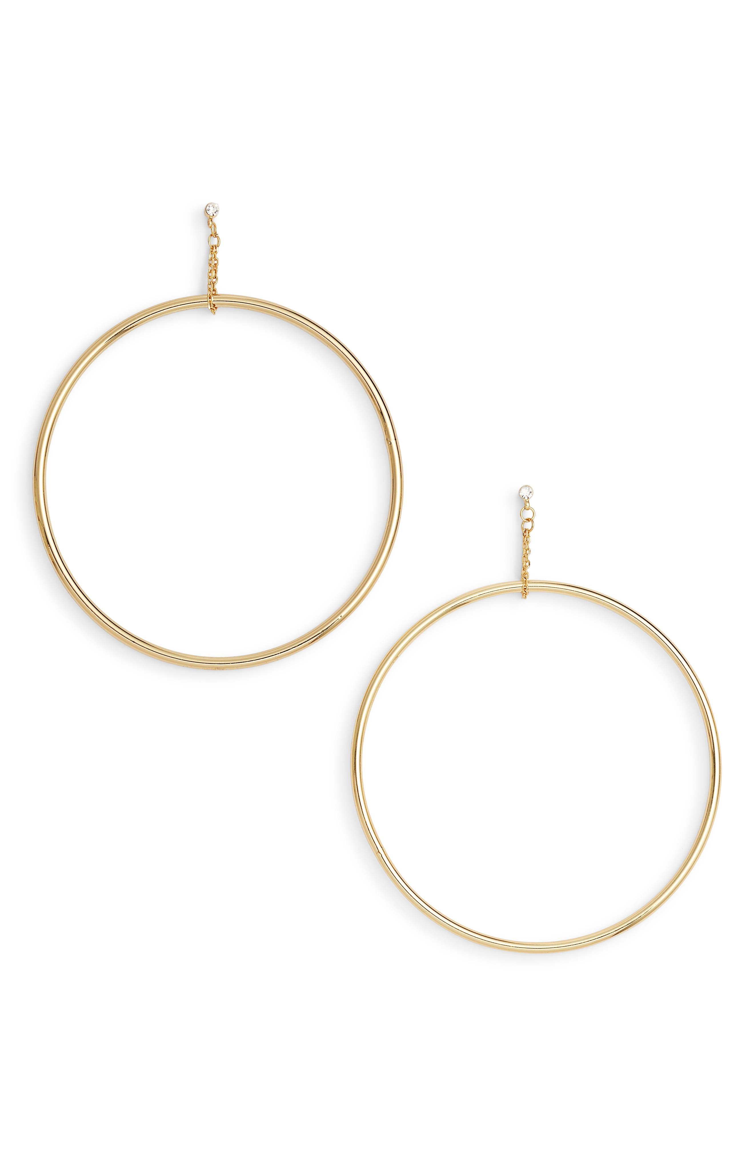 Kingsley Hoop Earrings,                             Main thumbnail 1, color,                             Gold