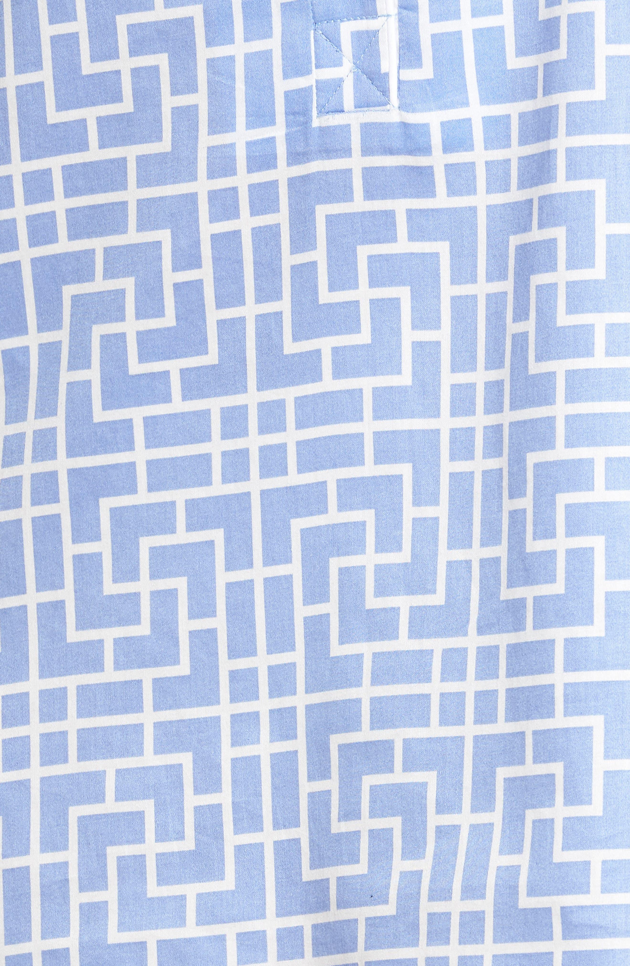 Abstract Maze Sateen Sleep Shirt,                             Alternate thumbnail 6, color,                             Wedgewood