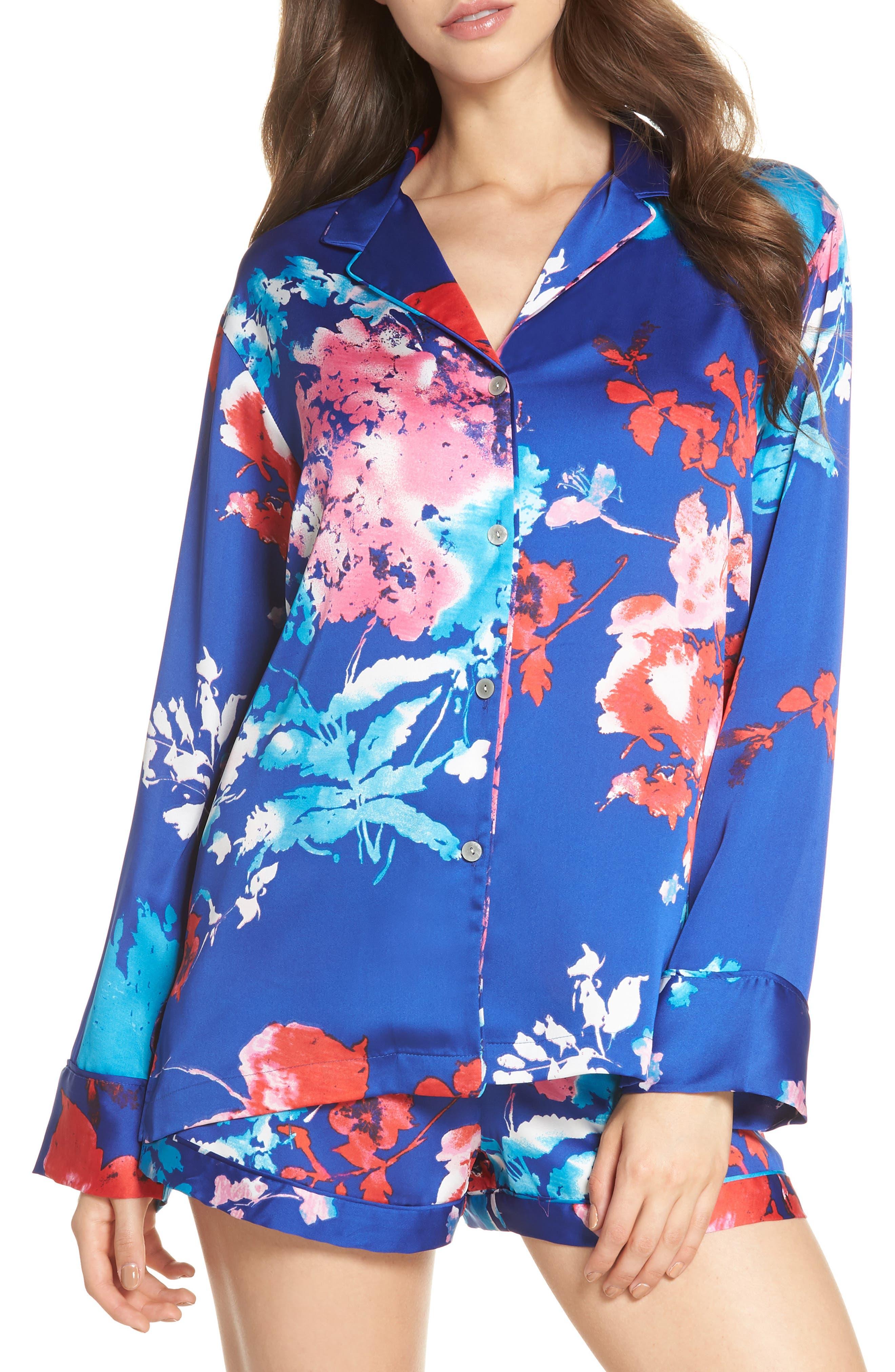 Fiji Short Pajamas,                             Main thumbnail 1, color,                             Cobalt