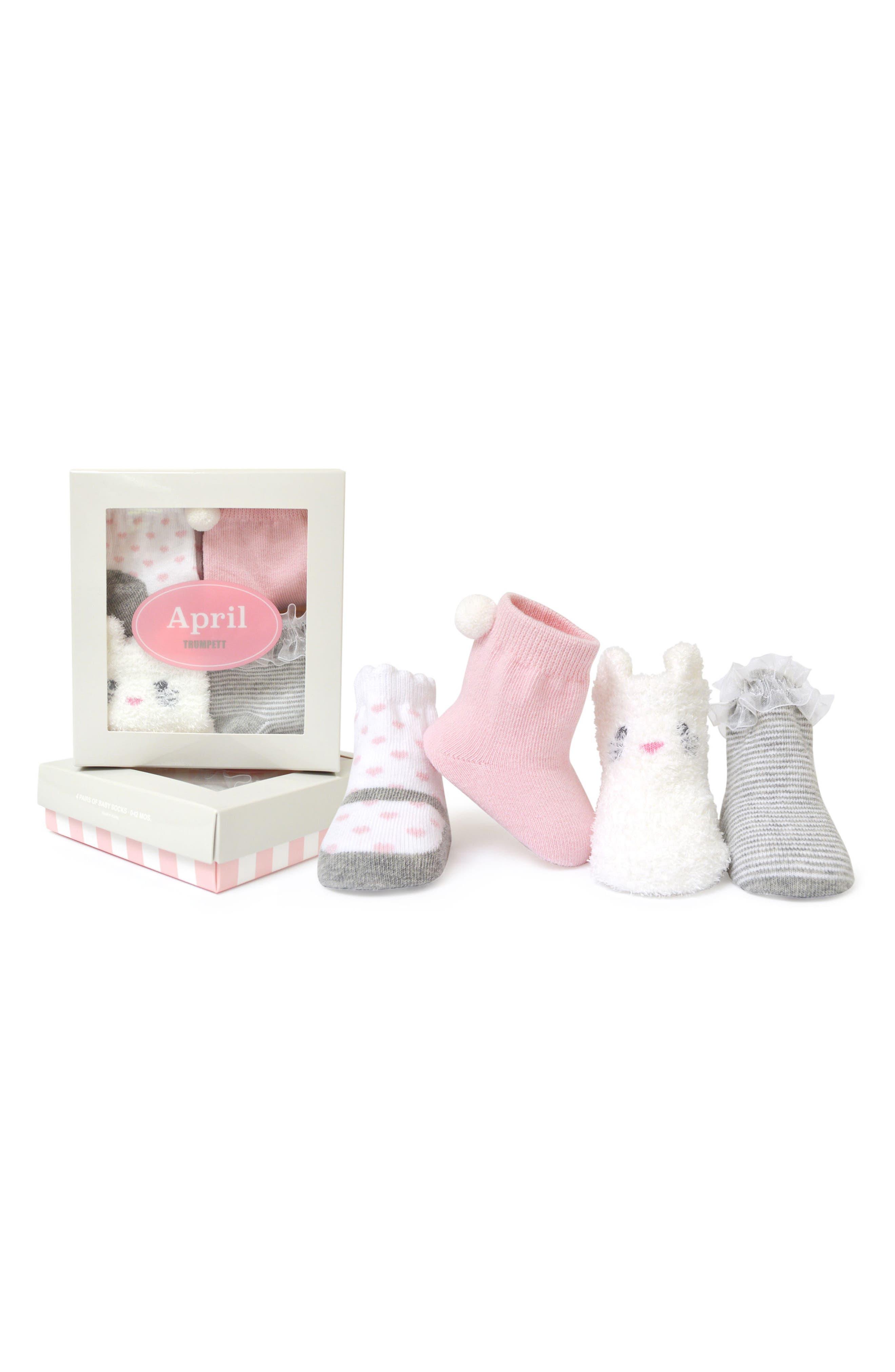 April 4-Pack Socks,                         Main,                         color, Assorted