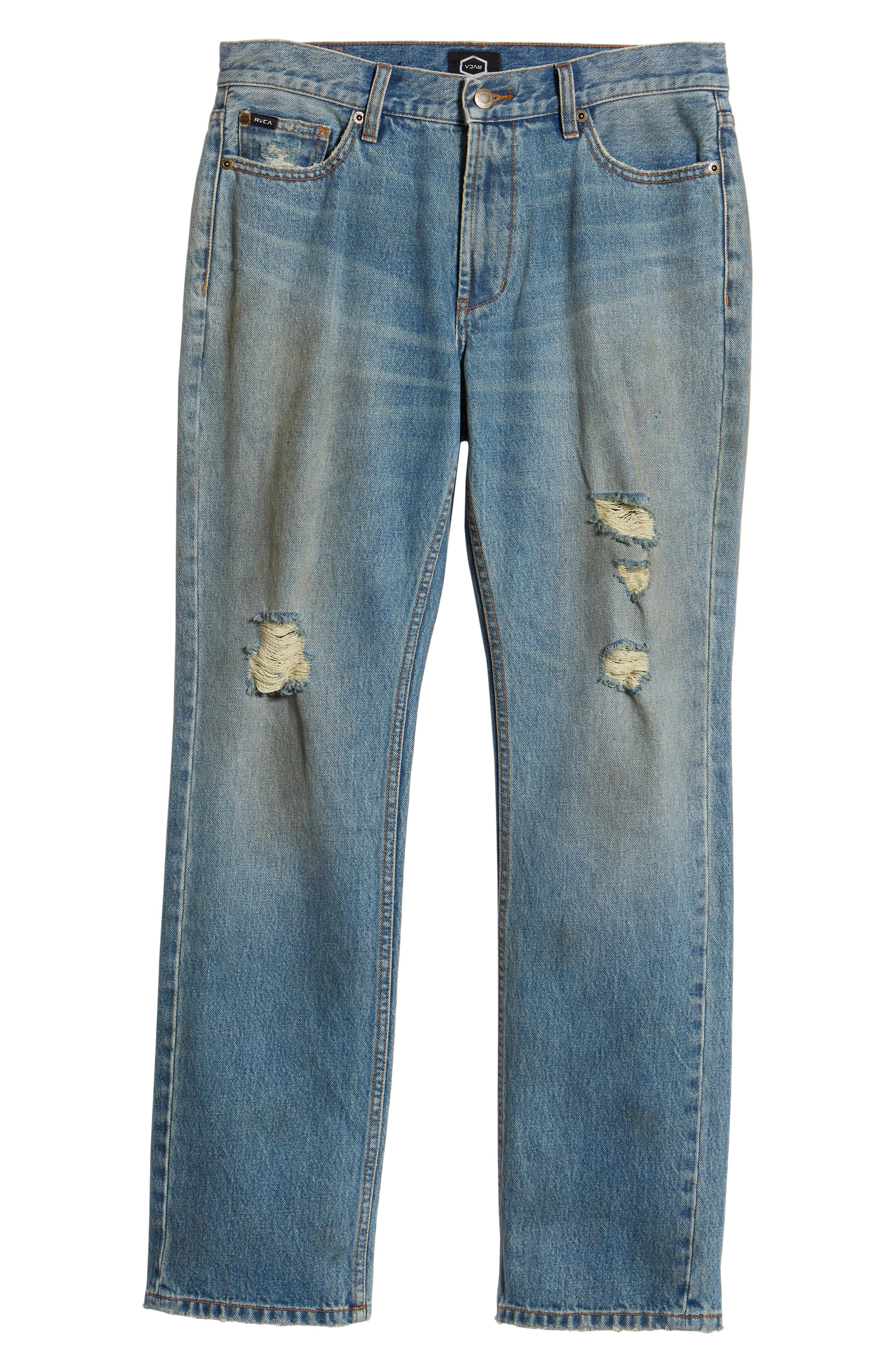 Stay RVCA Slim Fit Jeans,                             Alternate thumbnail 6, color,                             Blue