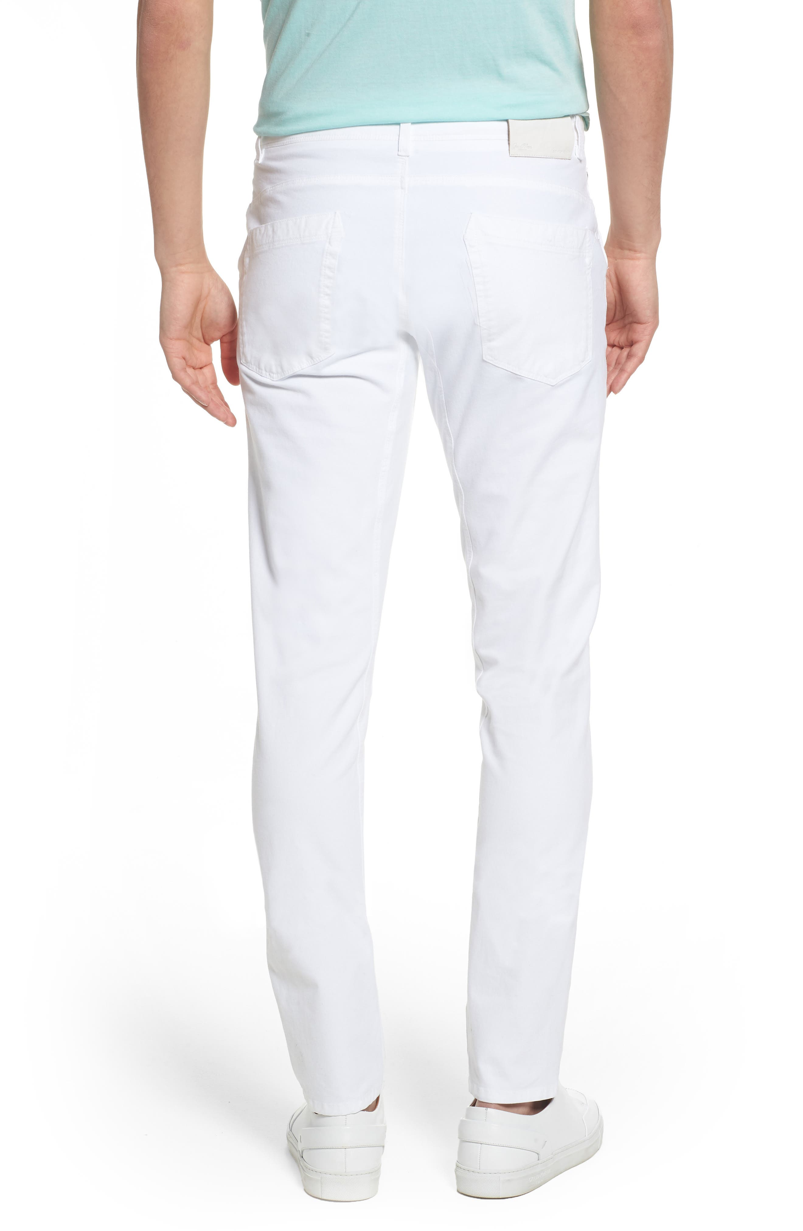 Hybrid Slim Fit Stretch Pants,                             Alternate thumbnail 2, color,                             White