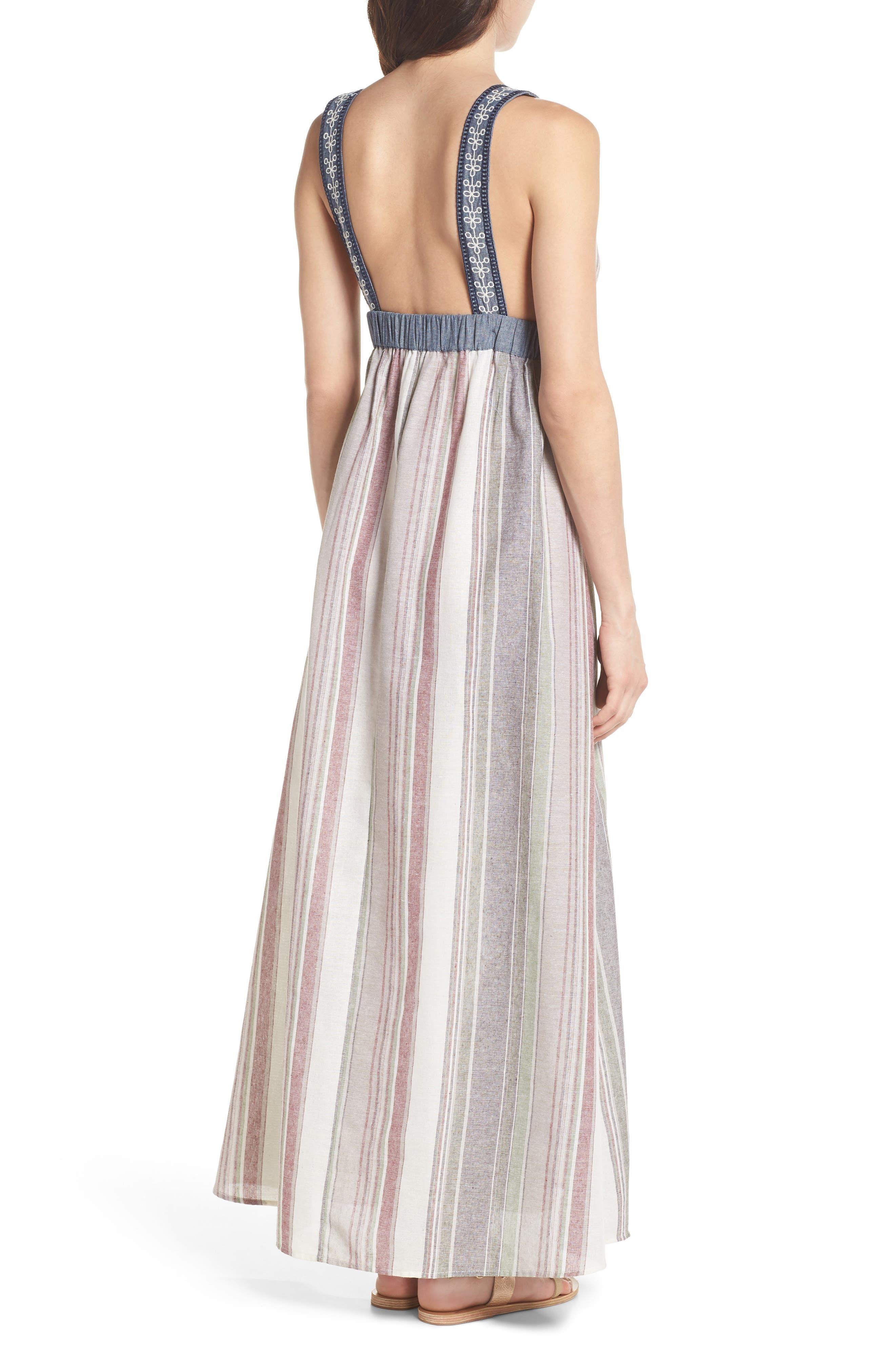 Stripe Maxi Dress,                             Alternate thumbnail 2, color,                             Cream